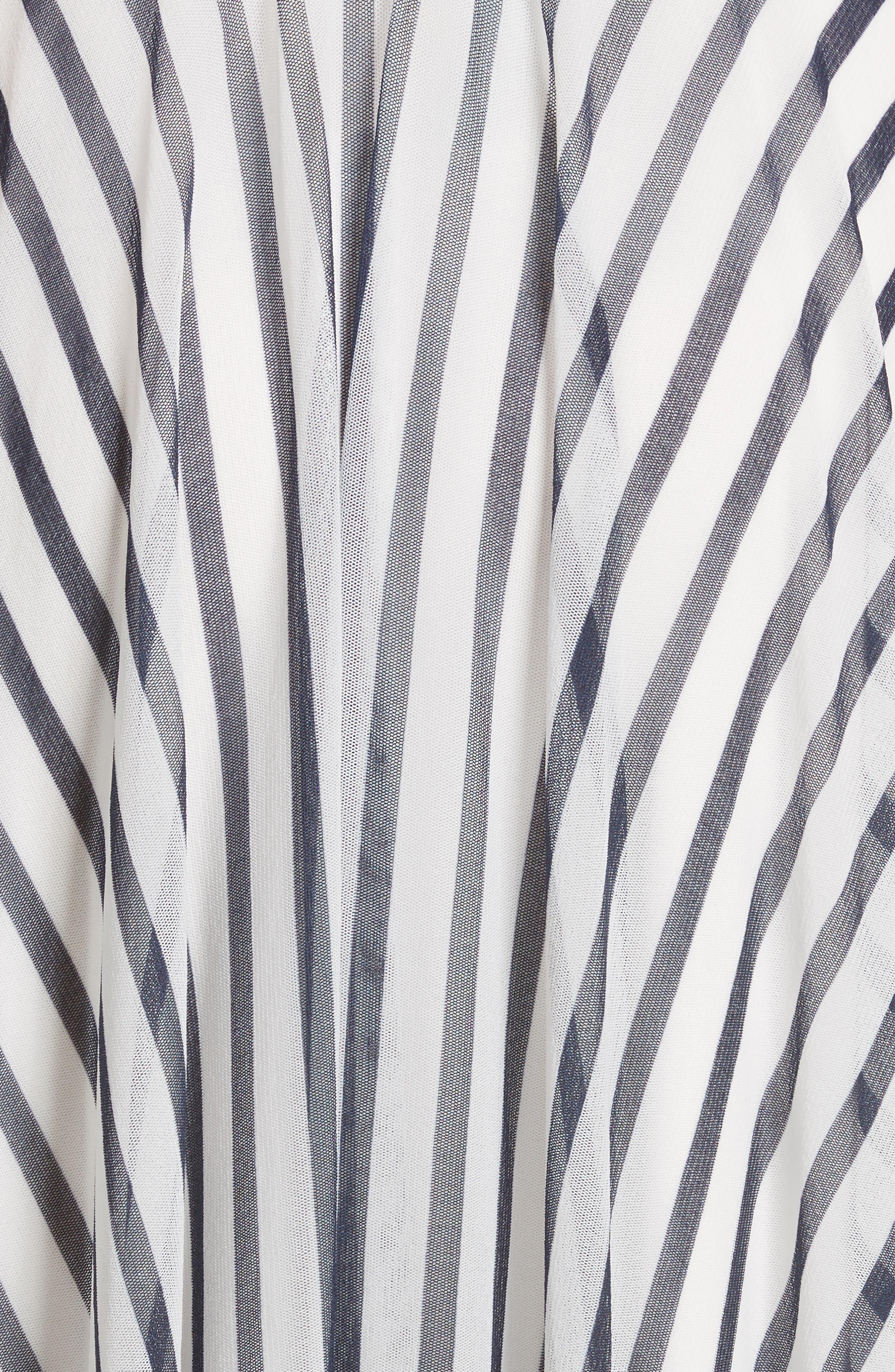 Multistripe Midi Dress,                             Alternate thumbnail 5, color,                             110