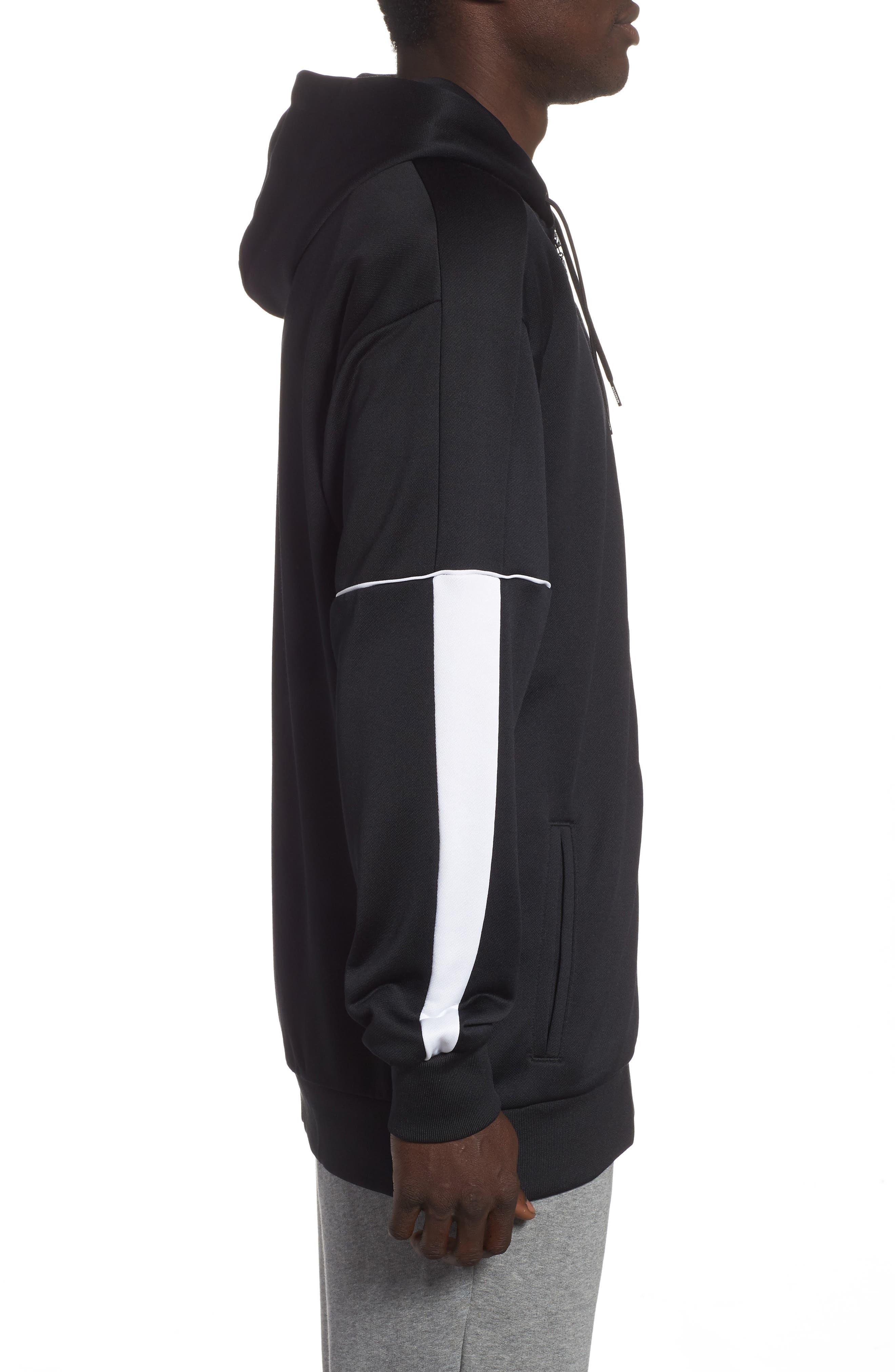 Retro Zip Hoodie Jacket,                             Alternate thumbnail 3, color,                             PUMA BLACK