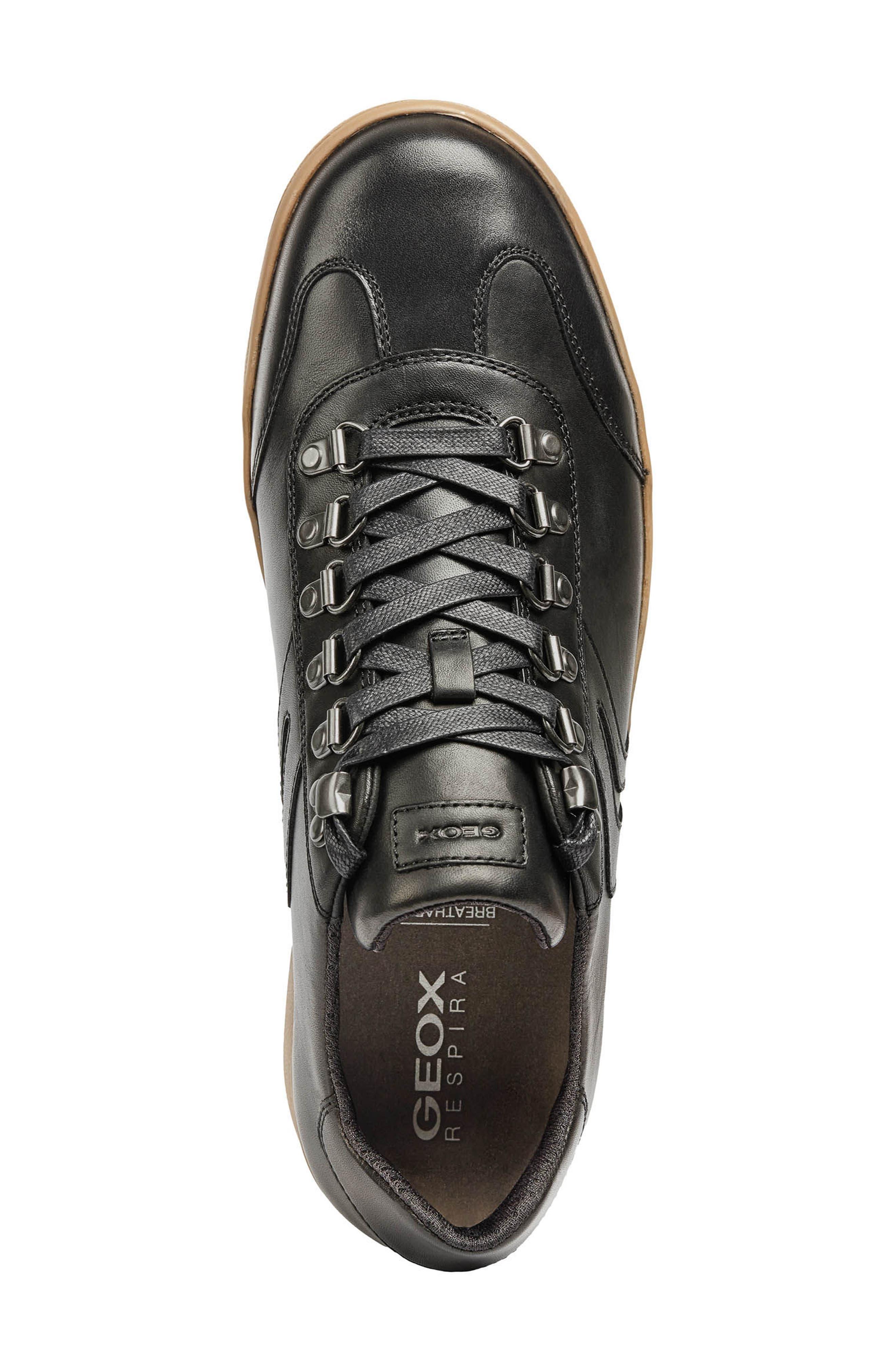 Warrens 12 Low Top Sneaker,                             Alternate thumbnail 5, color,                             BLACK LEATHER