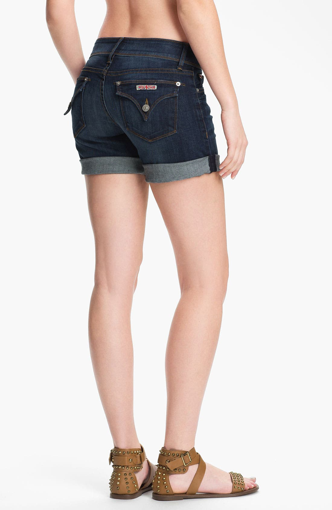 'Croxley' Cuff Denim Shorts,                             Alternate thumbnail 2, color,                             404