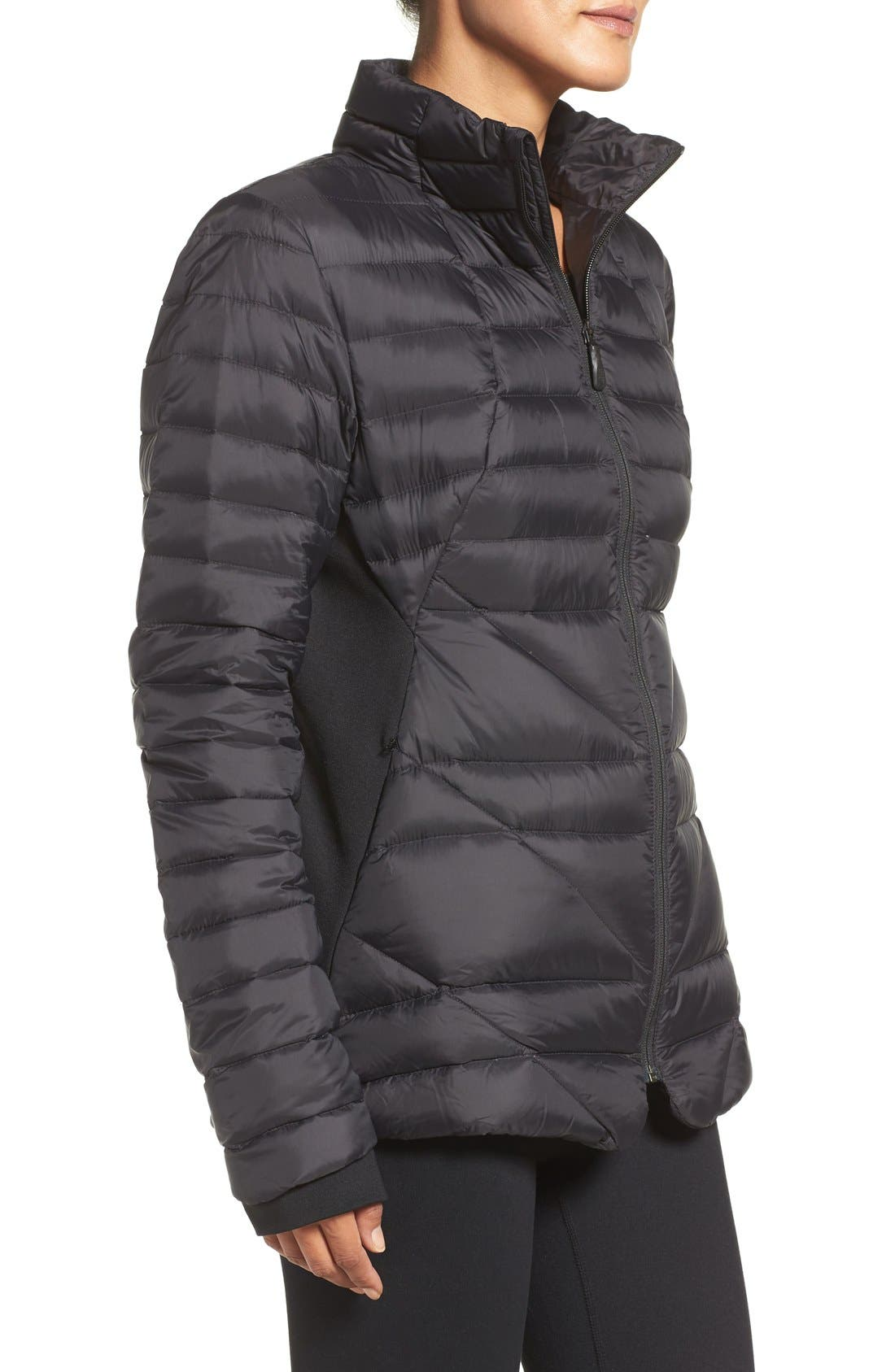 THE NORTH FACE,                             Lucia Hybrid Down Jacket,                             Alternate thumbnail 3, color,                             001