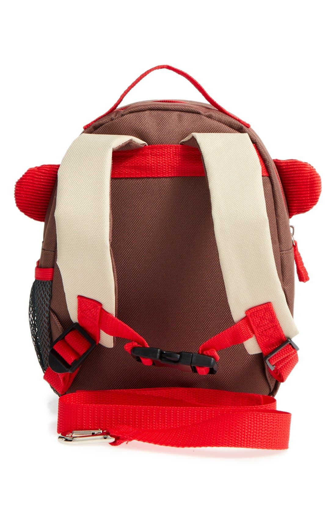 'Zoo' Safety Harness Backpack,                             Alternate thumbnail 2, color,                             MONKEY