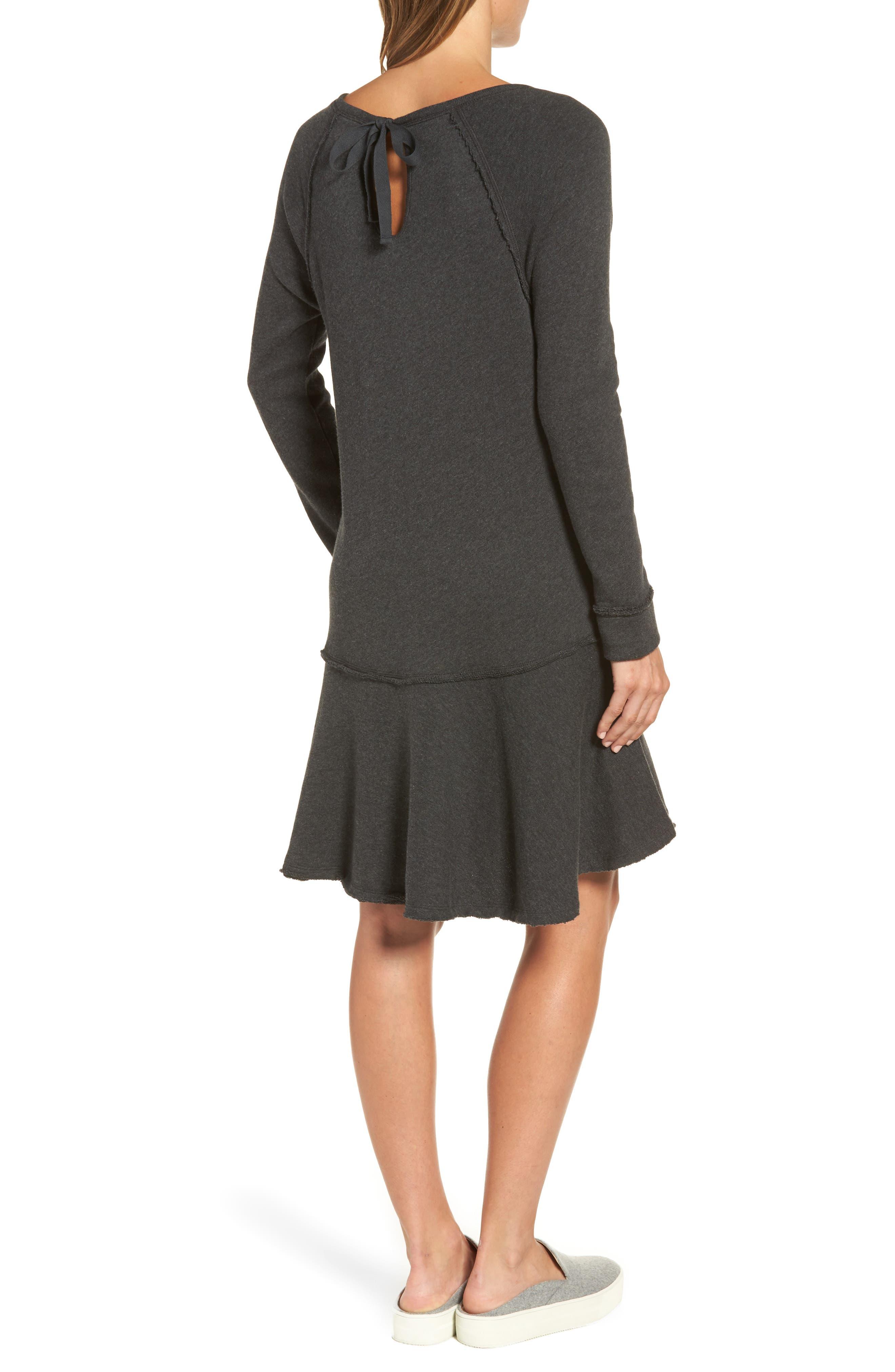 Ruffle Hem Knit Dress,                             Alternate thumbnail 2, color,                             021