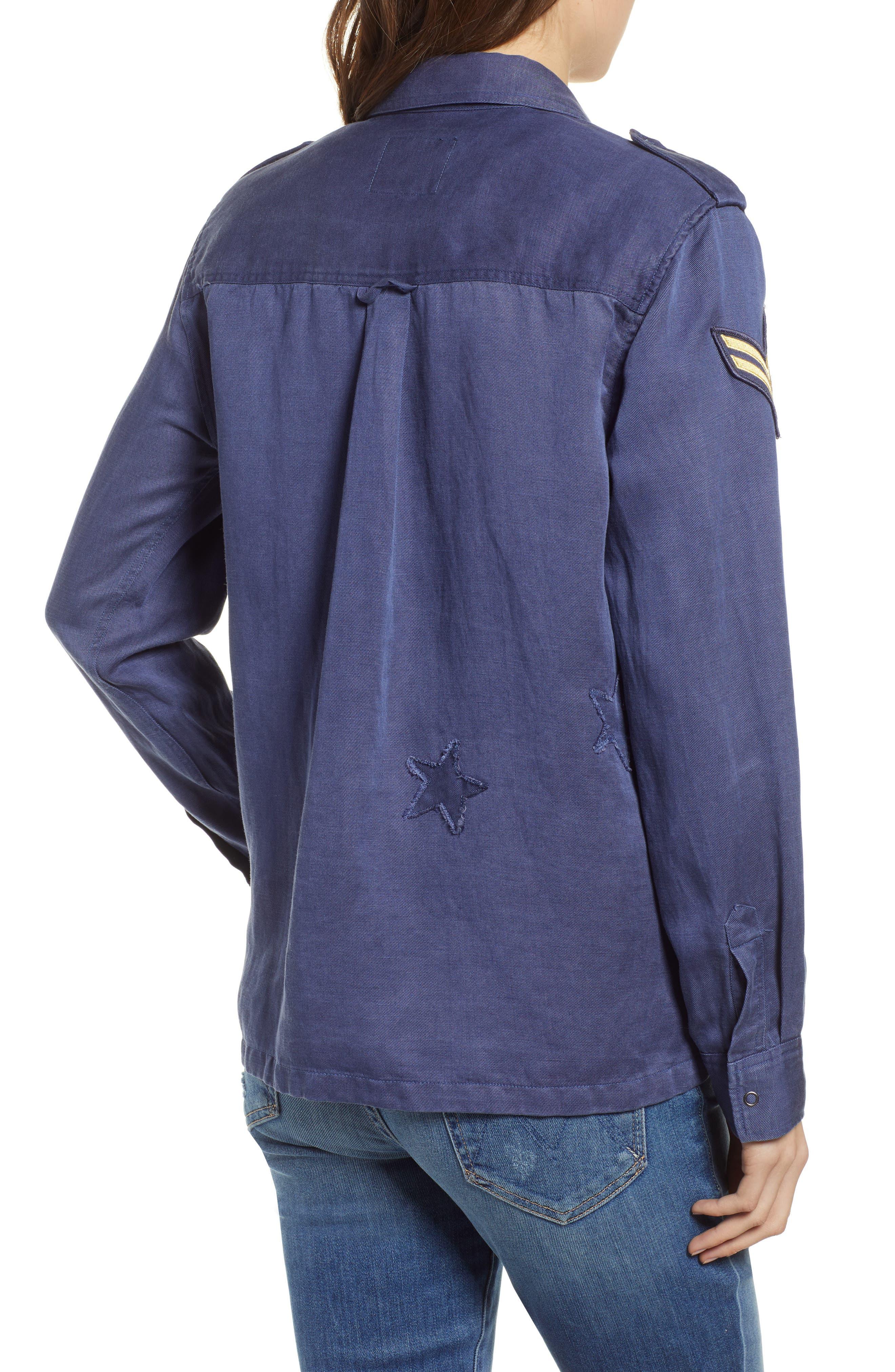 Kato Military Shirt,                             Alternate thumbnail 2, color,                             TOKYO BLUE