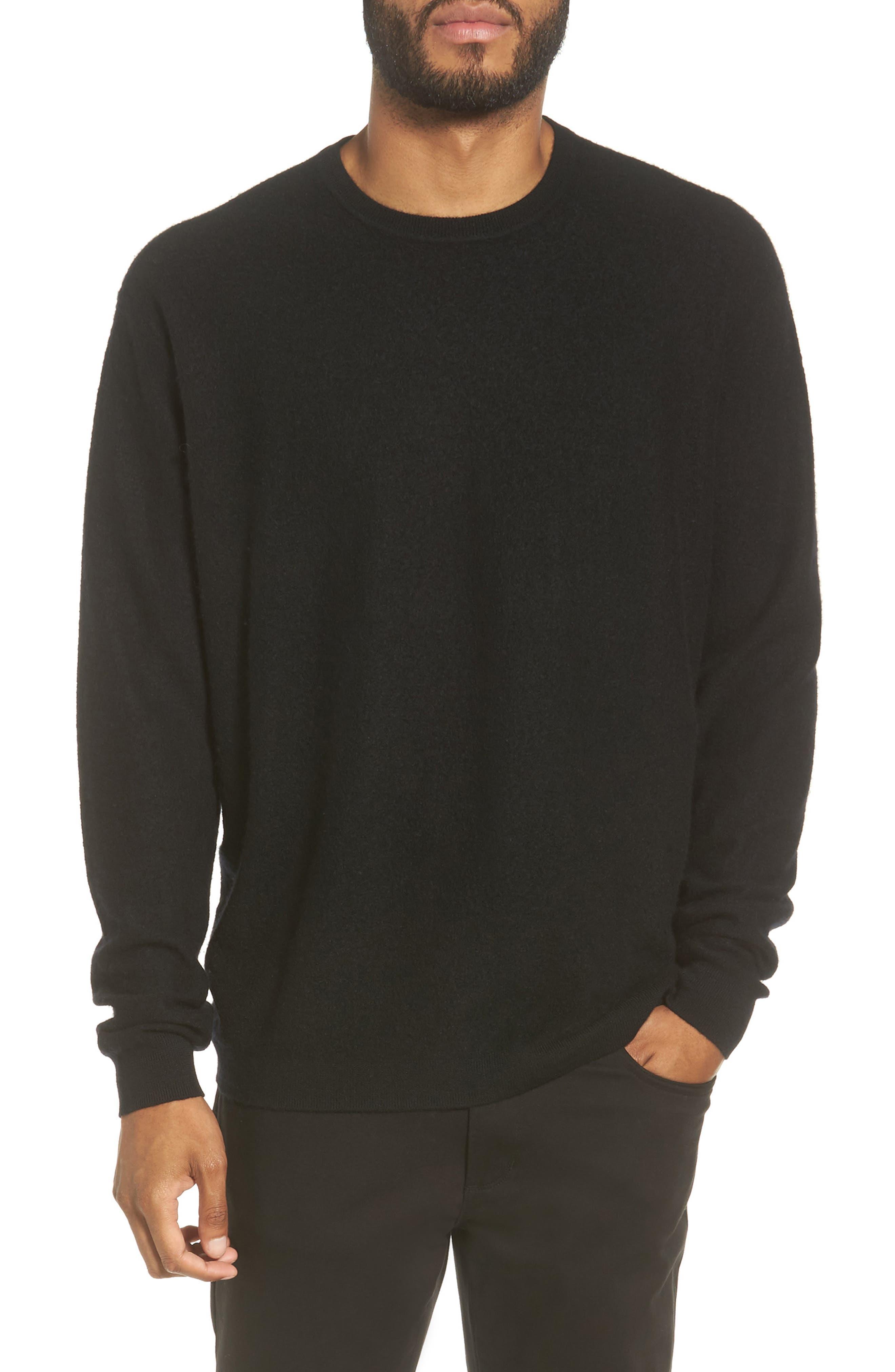 Cashmere Crewneck Sweater,                             Main thumbnail 1, color,                             001