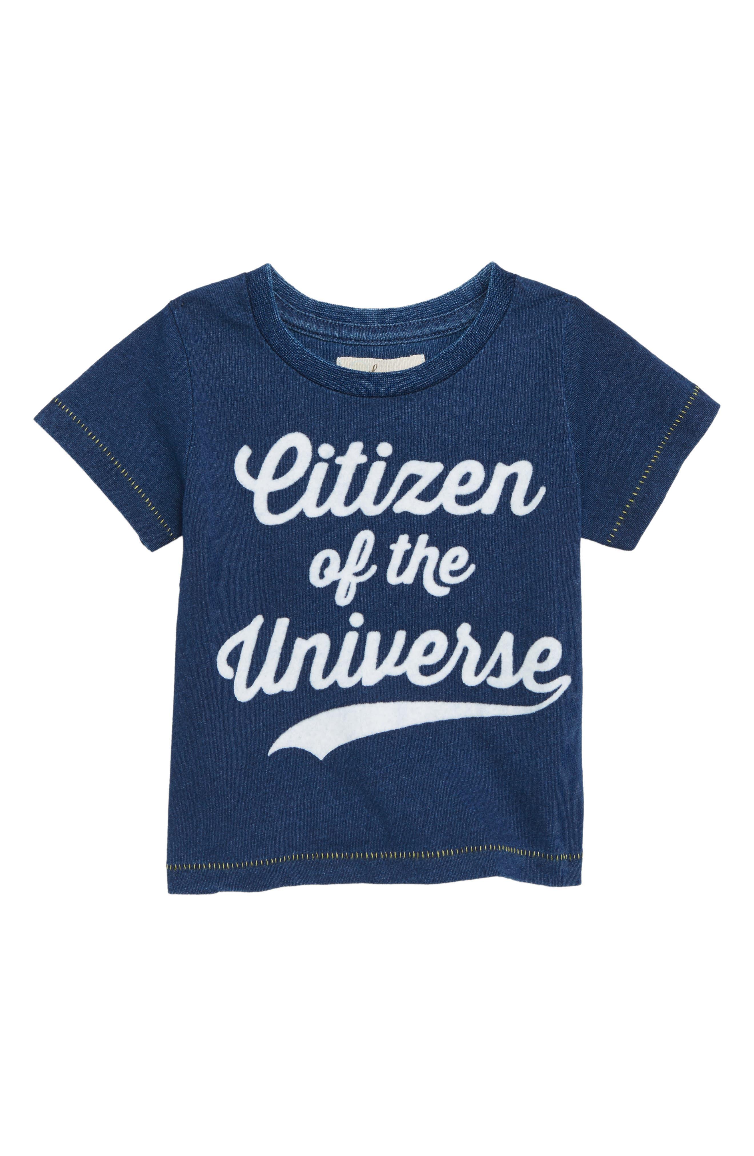 Peek Citizen of the Universe T-Shirt,                             Main thumbnail 1, color,                             BLUE