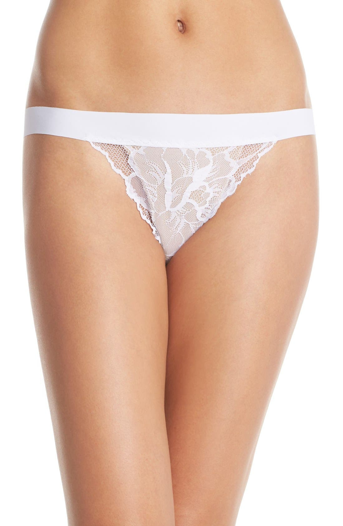 'Double Take' Lace G-String Thong,                             Main thumbnail 2, color,