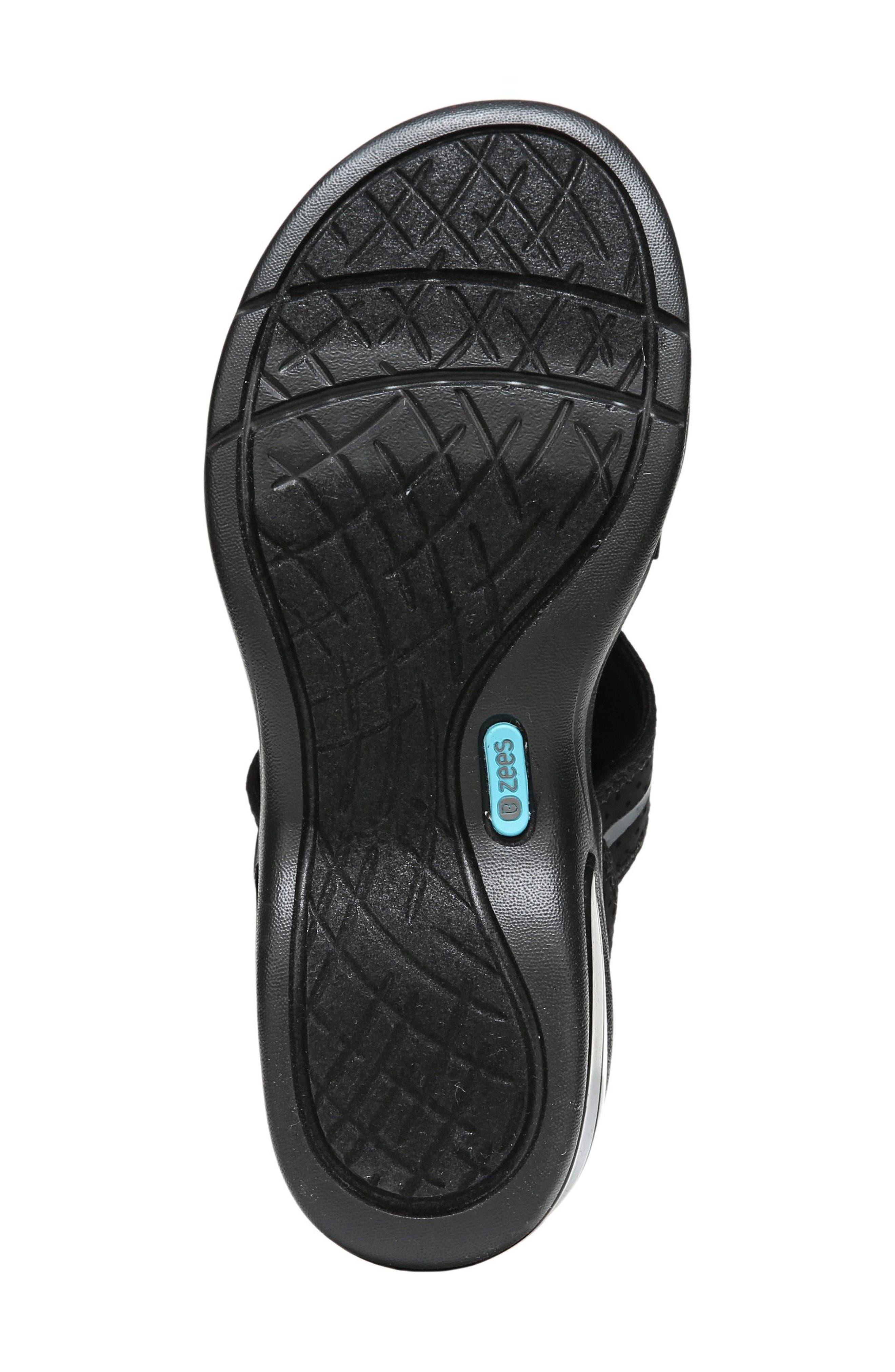 Krave Sandal,                             Alternate thumbnail 4, color,                             BLACK FABRIC