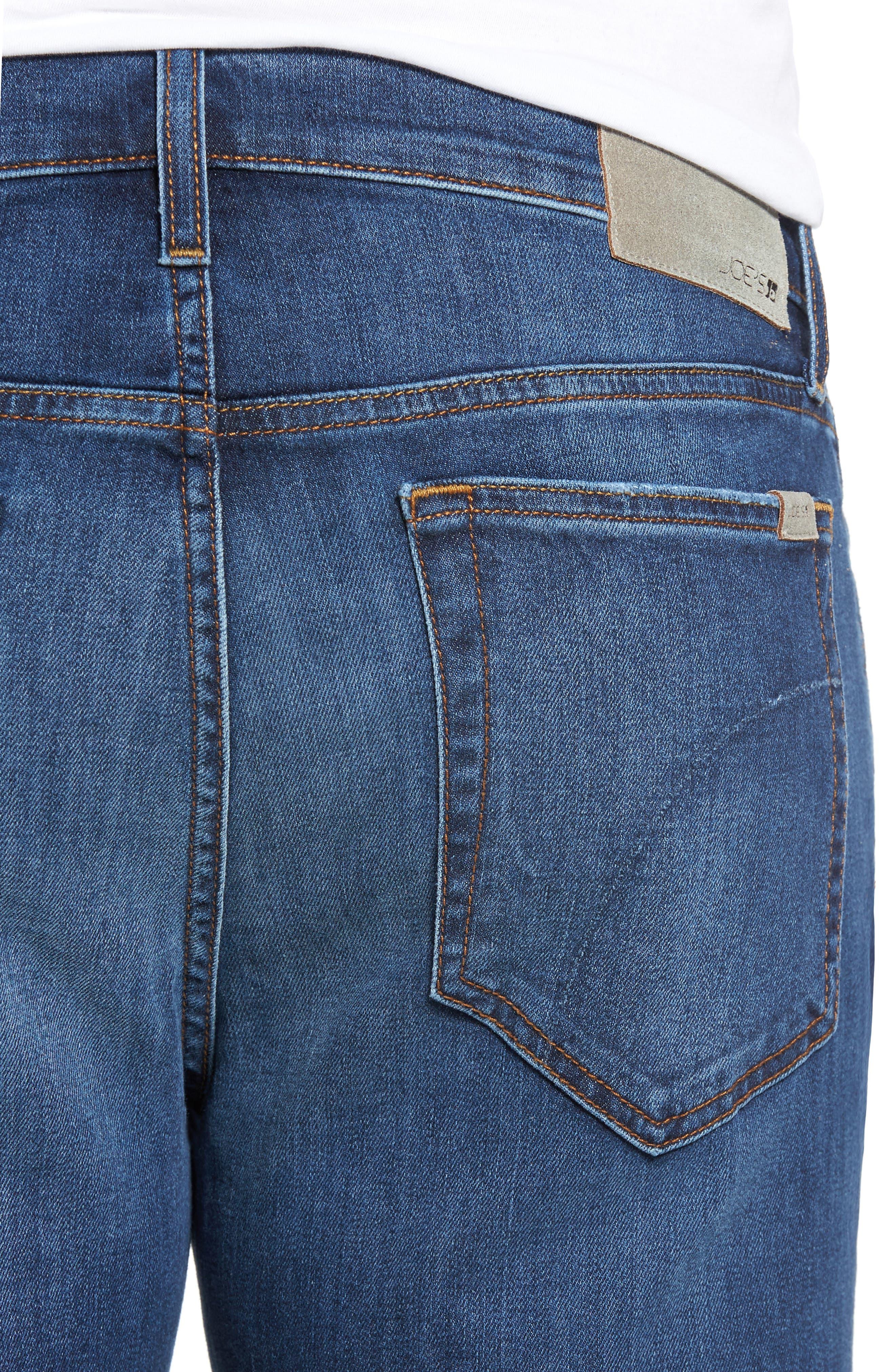 Classic Straight Leg Jeans,                             Alternate thumbnail 4, color,                             410