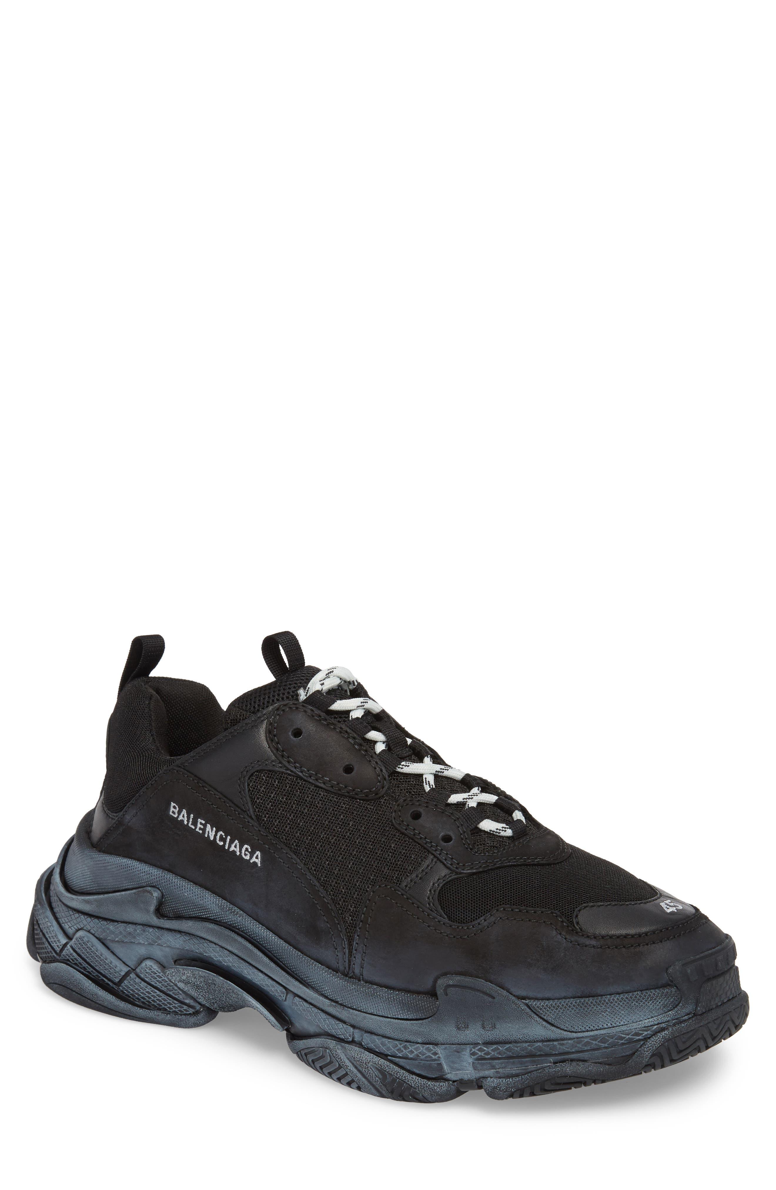 Triple S Retro Sneaker,                         Main,                         color, NOIR