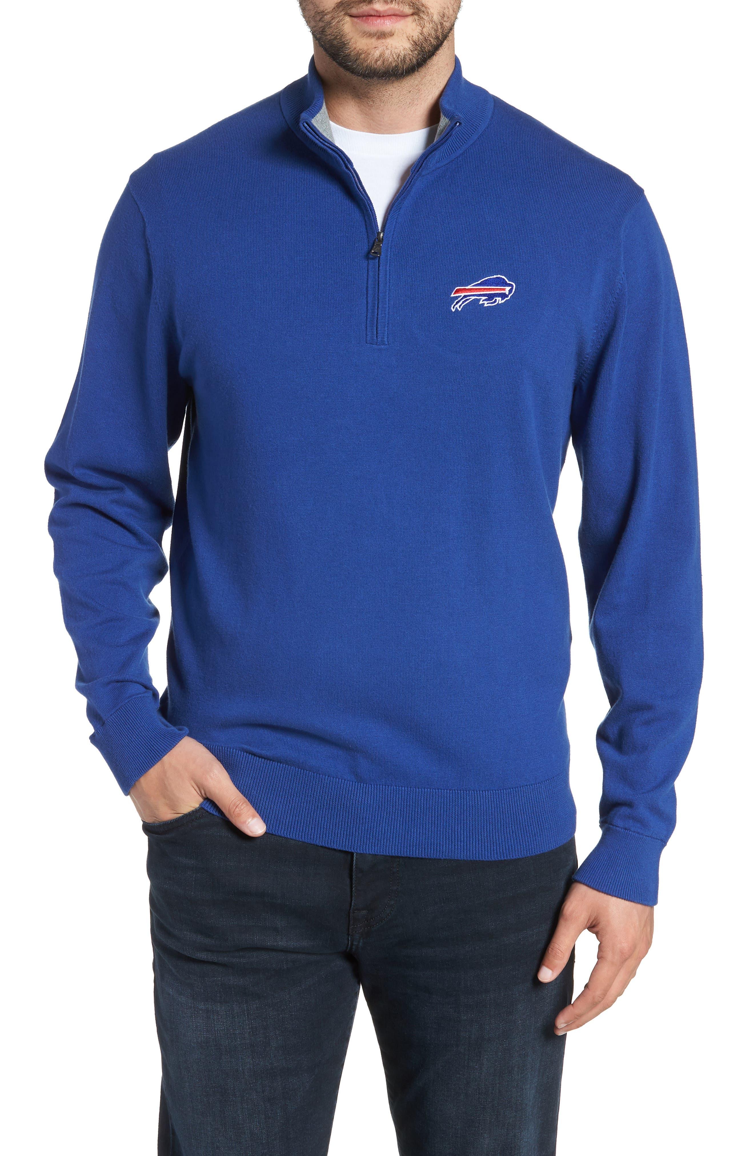 Buffalo Bills - Lakemont Regular Fit Quarter Zip Sweater,                         Main,                         color, TOUR BLUE