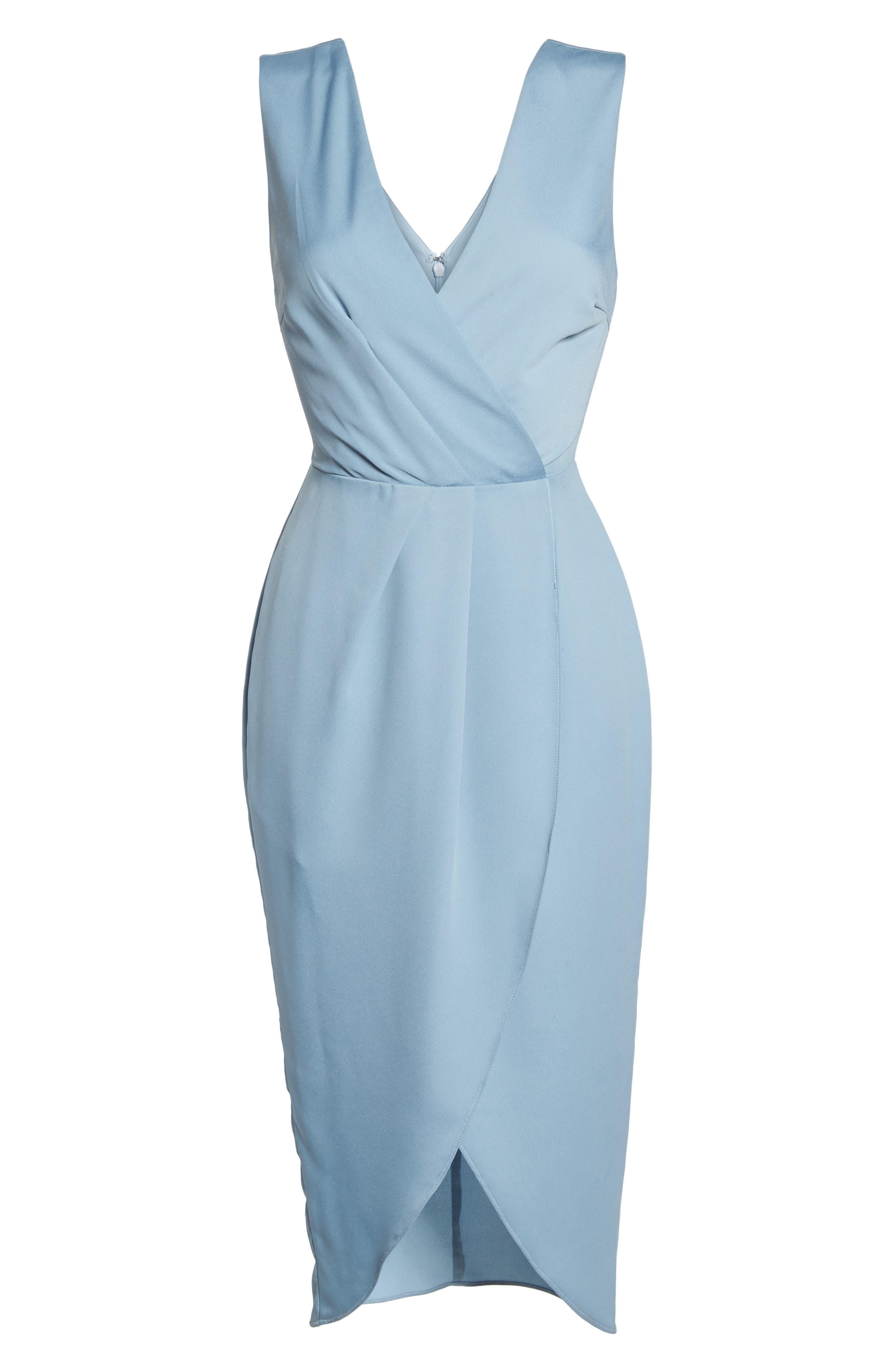 Florence Drape Sheath Dress,                             Alternate thumbnail 7, color,