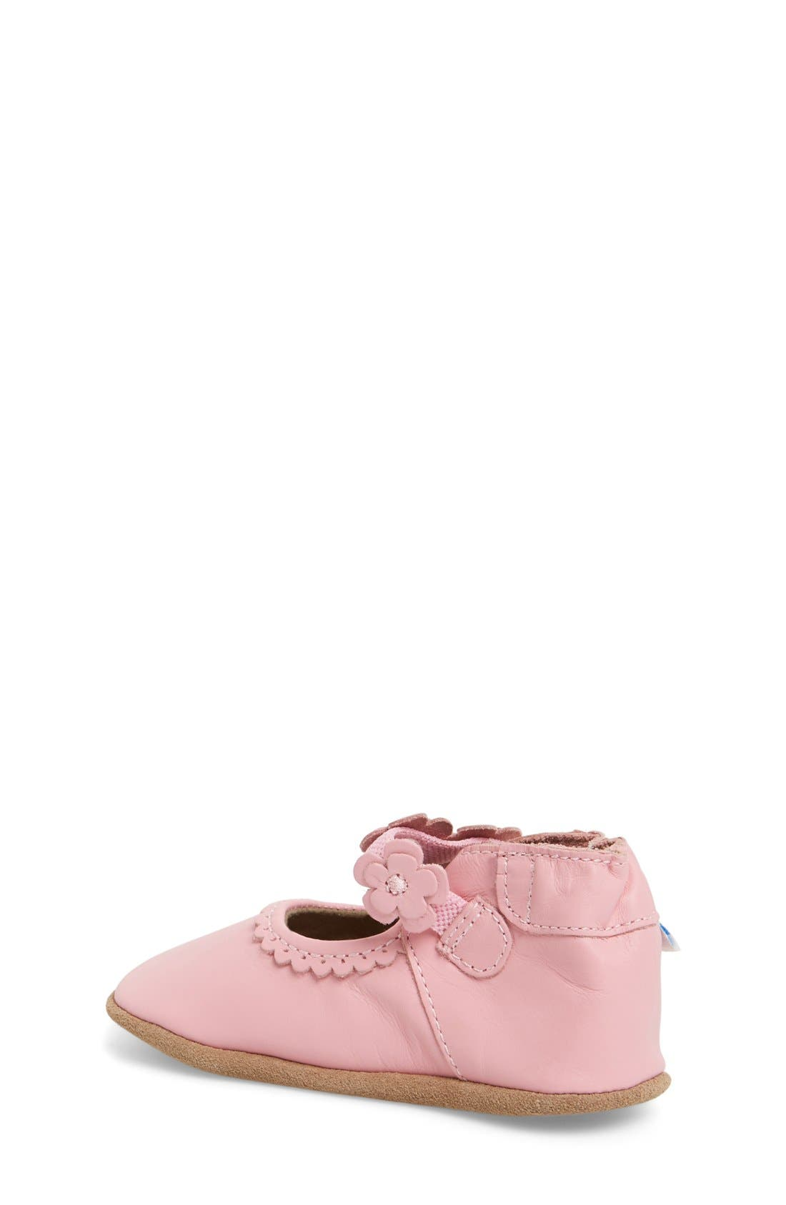 'Claire' Mary Jane Crib Shoe,                             Alternate thumbnail 3, color,                             PRISM PINK