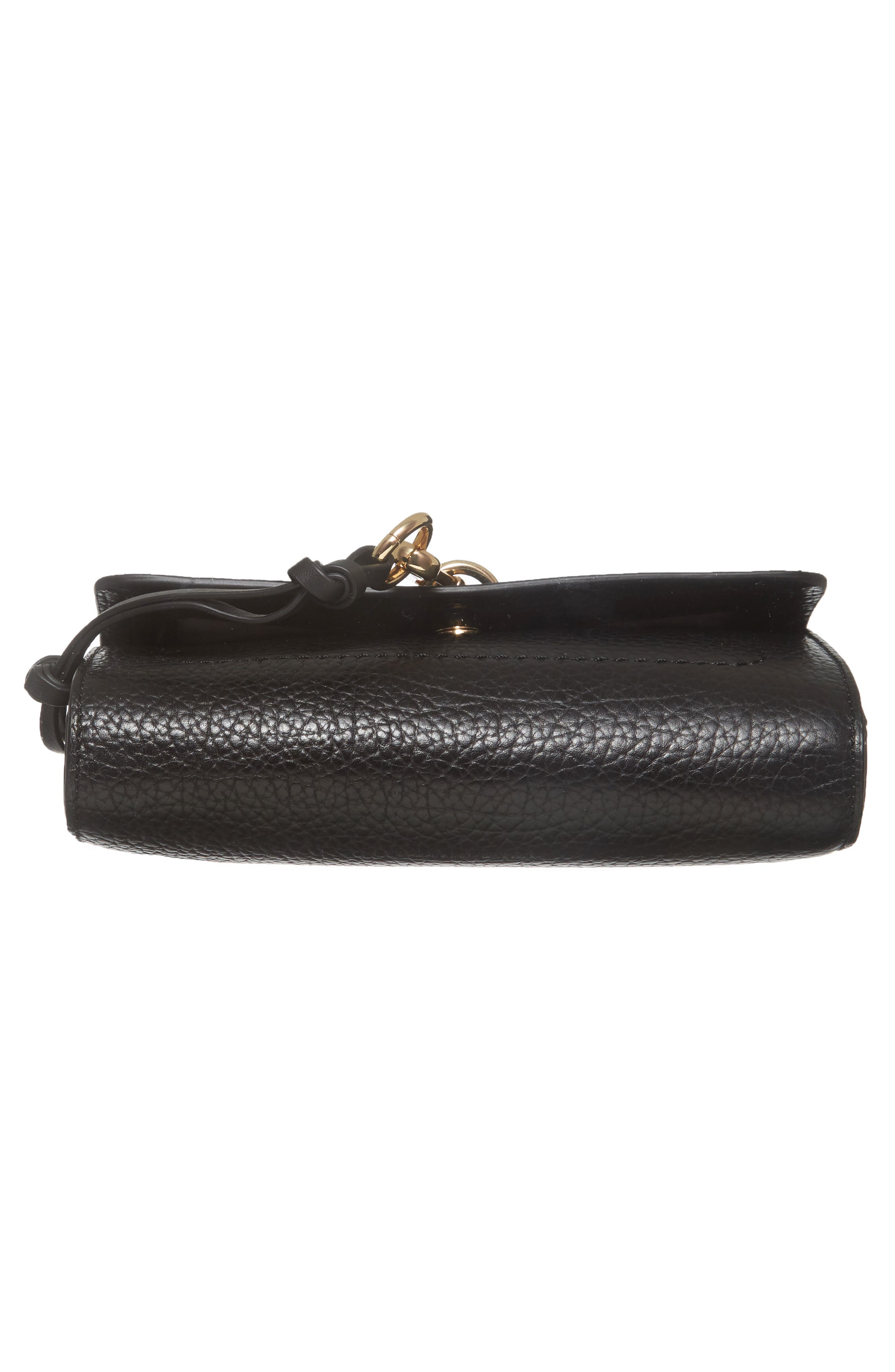 Blena Leather & Suede Clutch,                             Alternate thumbnail 6, color,                             001