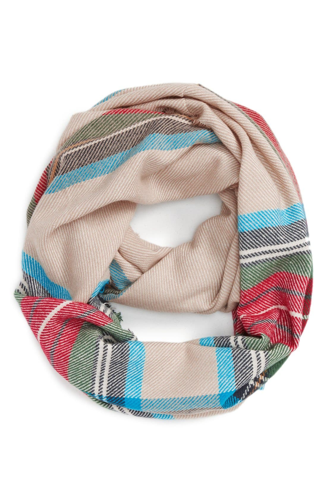 'Heritage' Plaid Infinity Scarf,                             Main thumbnail 2, color,