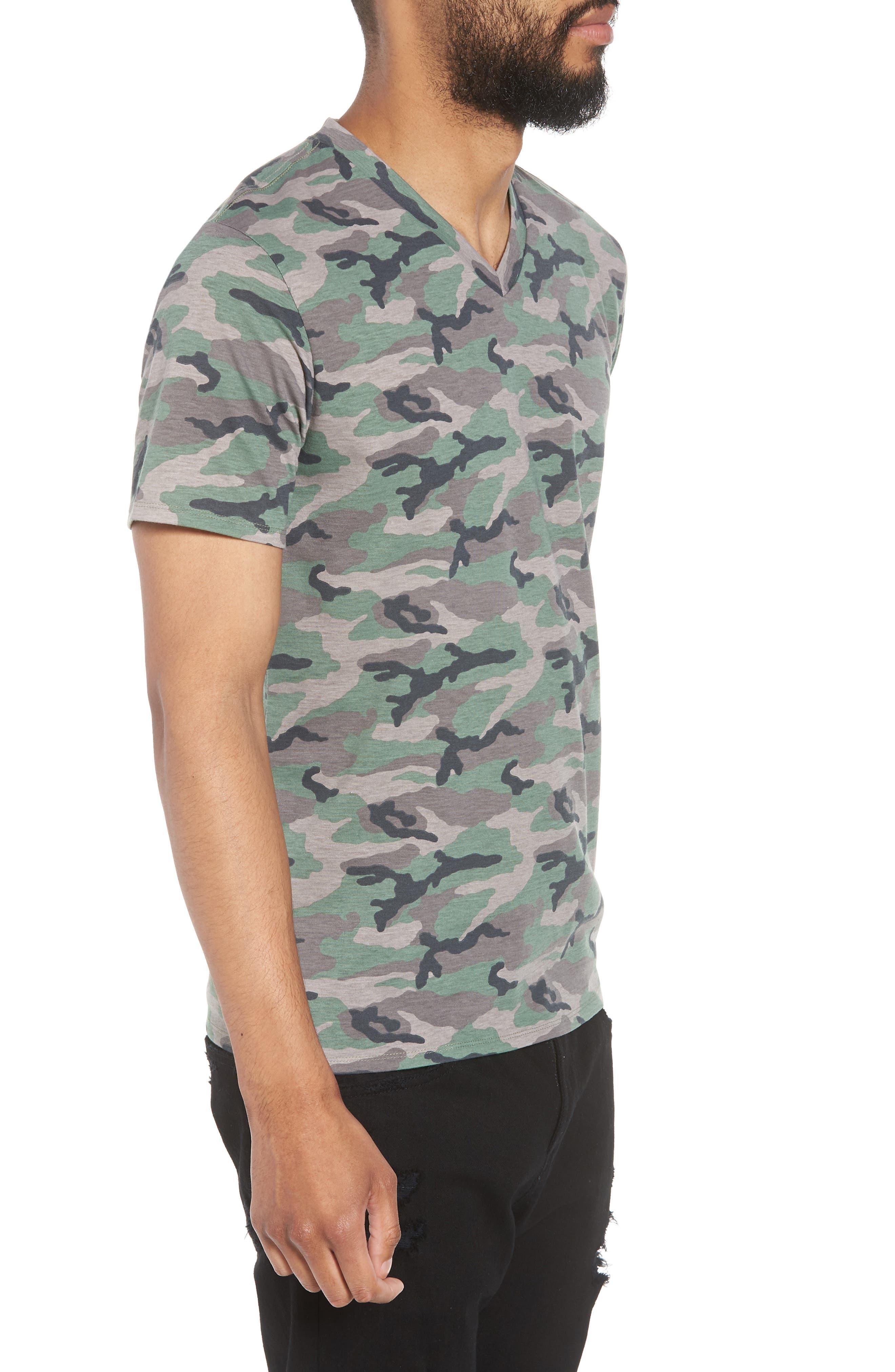 V-Neck T-Shirt,                             Alternate thumbnail 3, color,                             210