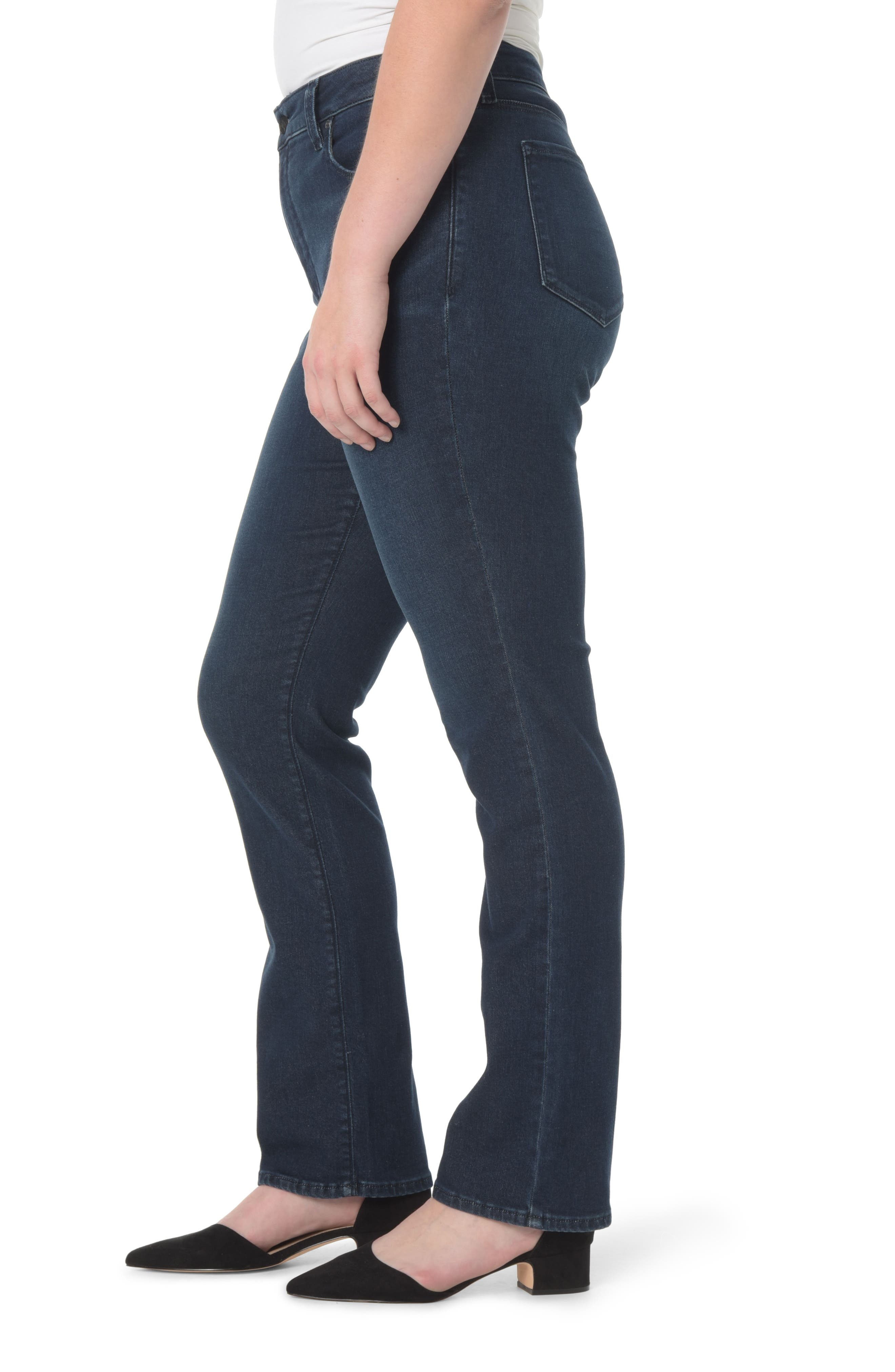 Marilyn Stretch Straight Leg Jeans,                             Alternate thumbnail 3, color,                             402