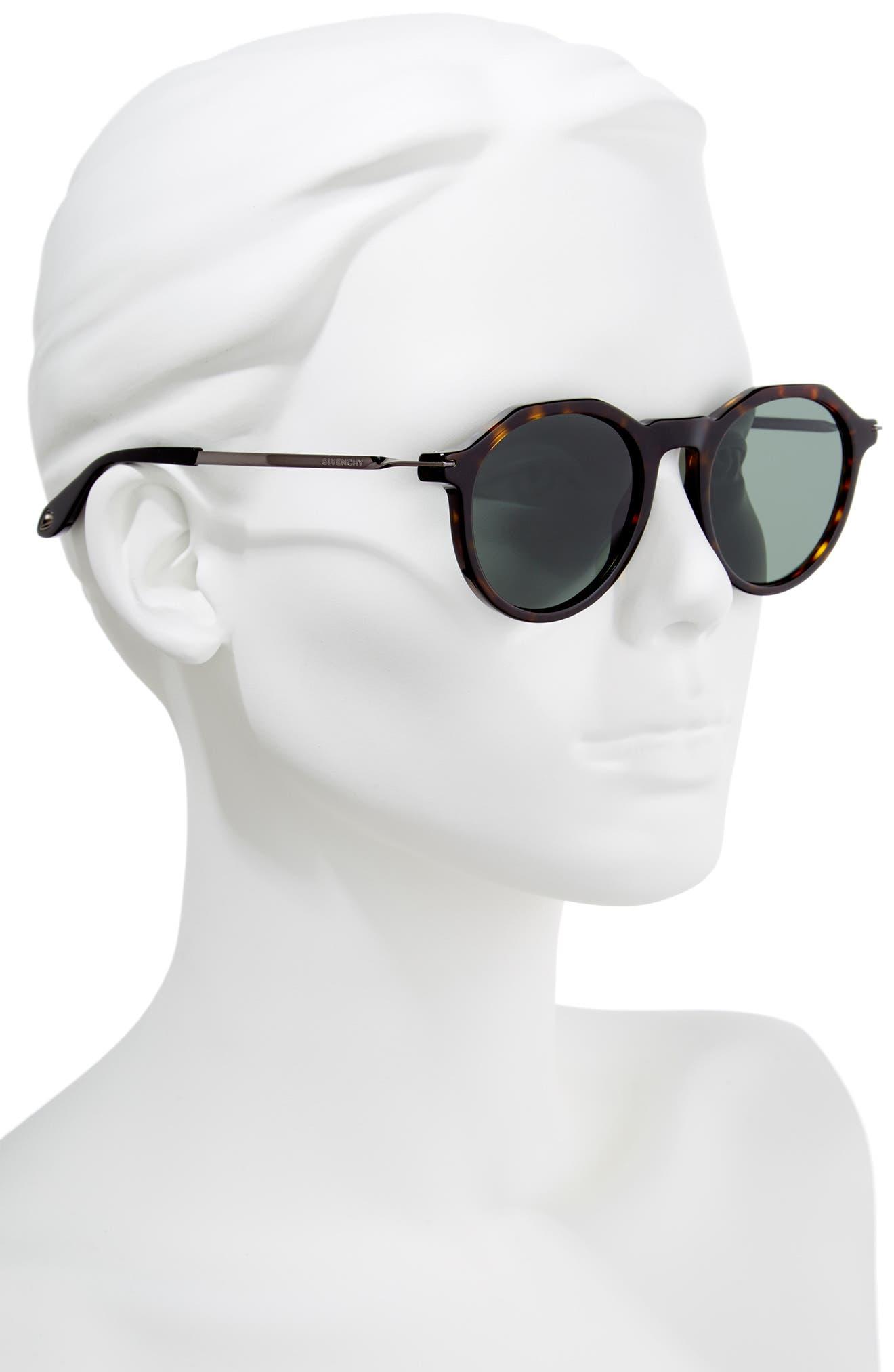 51mm Round Sunglasses,                             Alternate thumbnail 5, color,