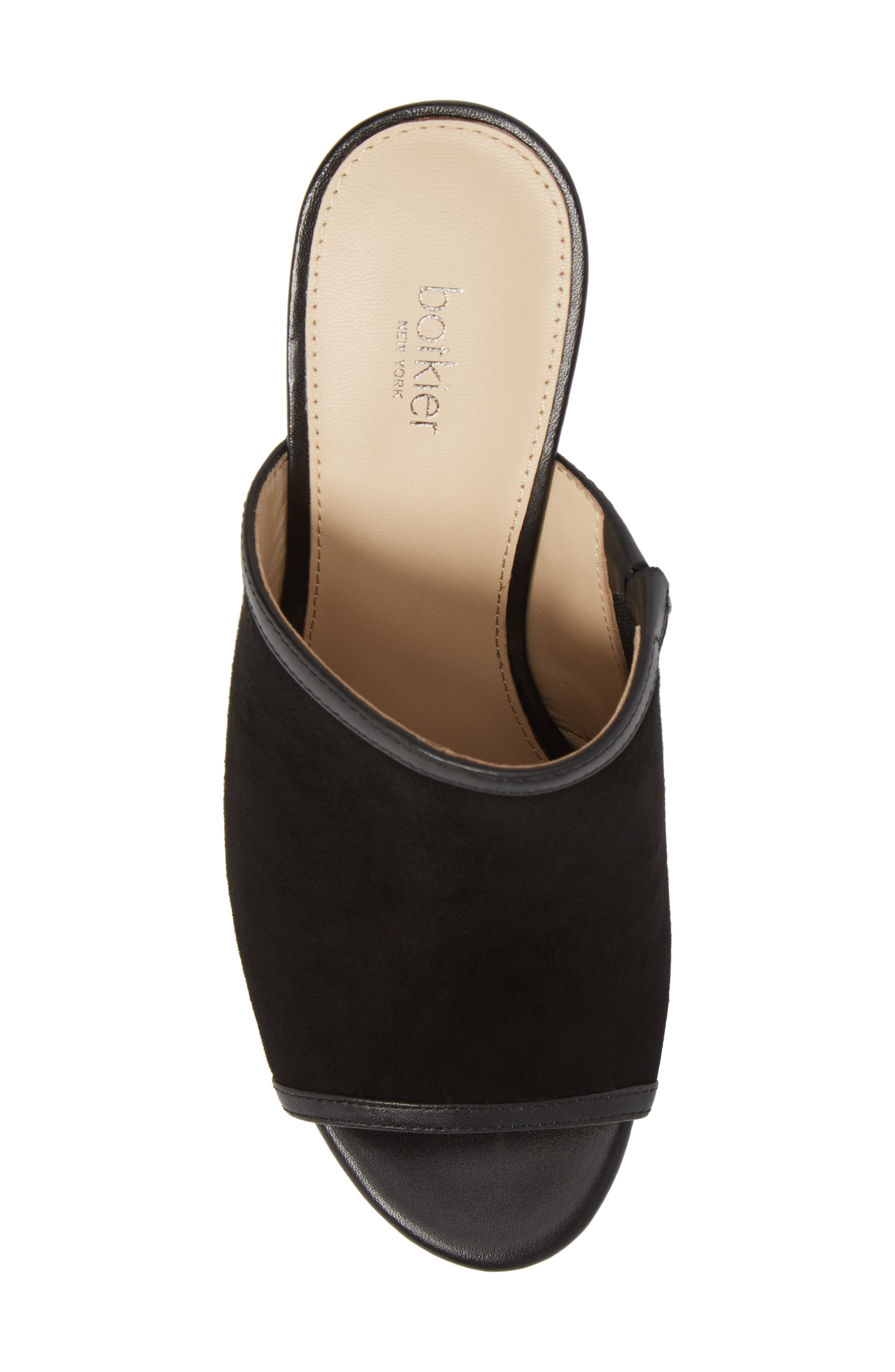 Platform Sandal,                             Alternate thumbnail 5, color,                             BLACK SUEDE