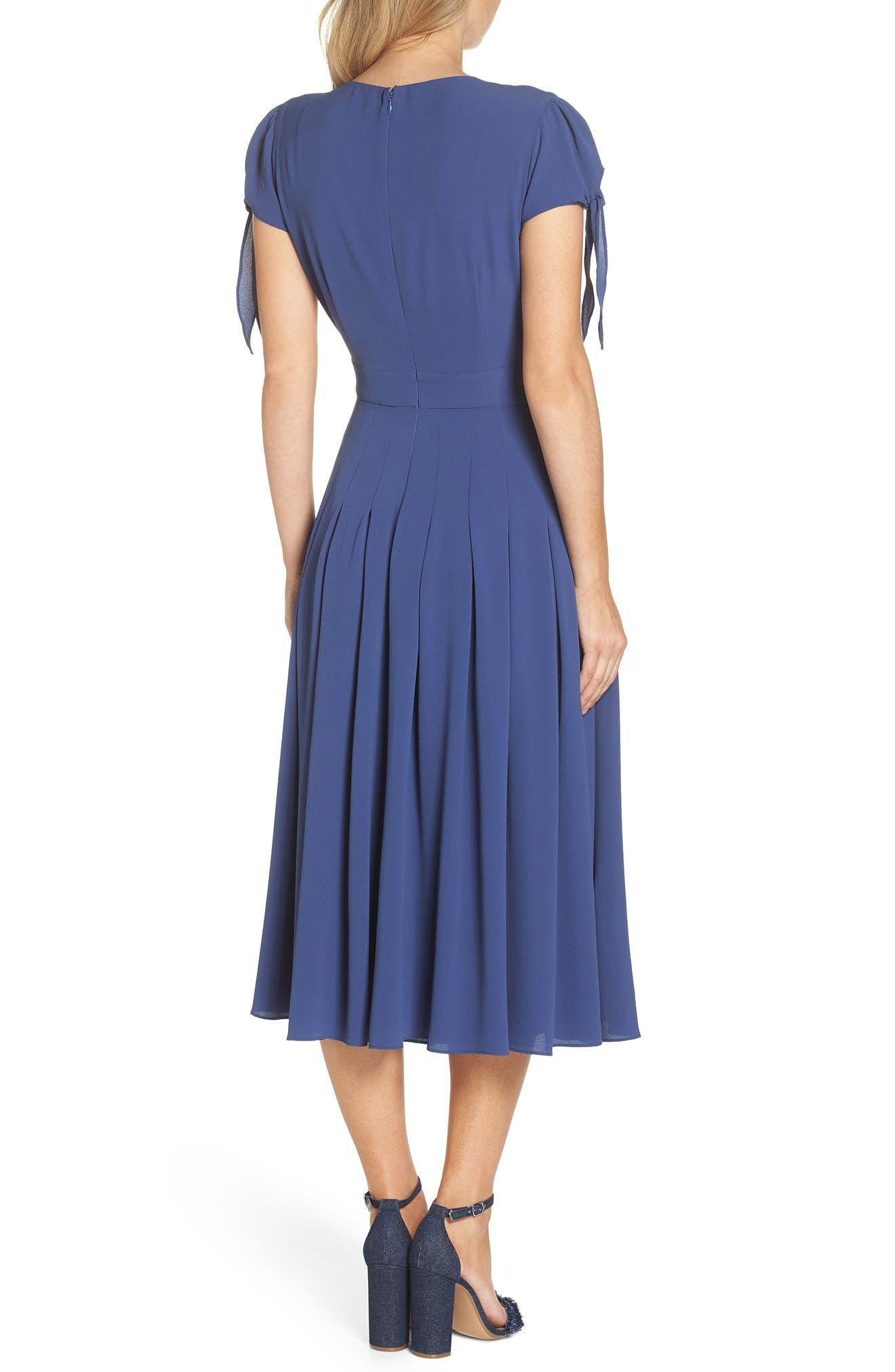Bette Pleated Midi Dress,                             Alternate thumbnail 2, color,                             405