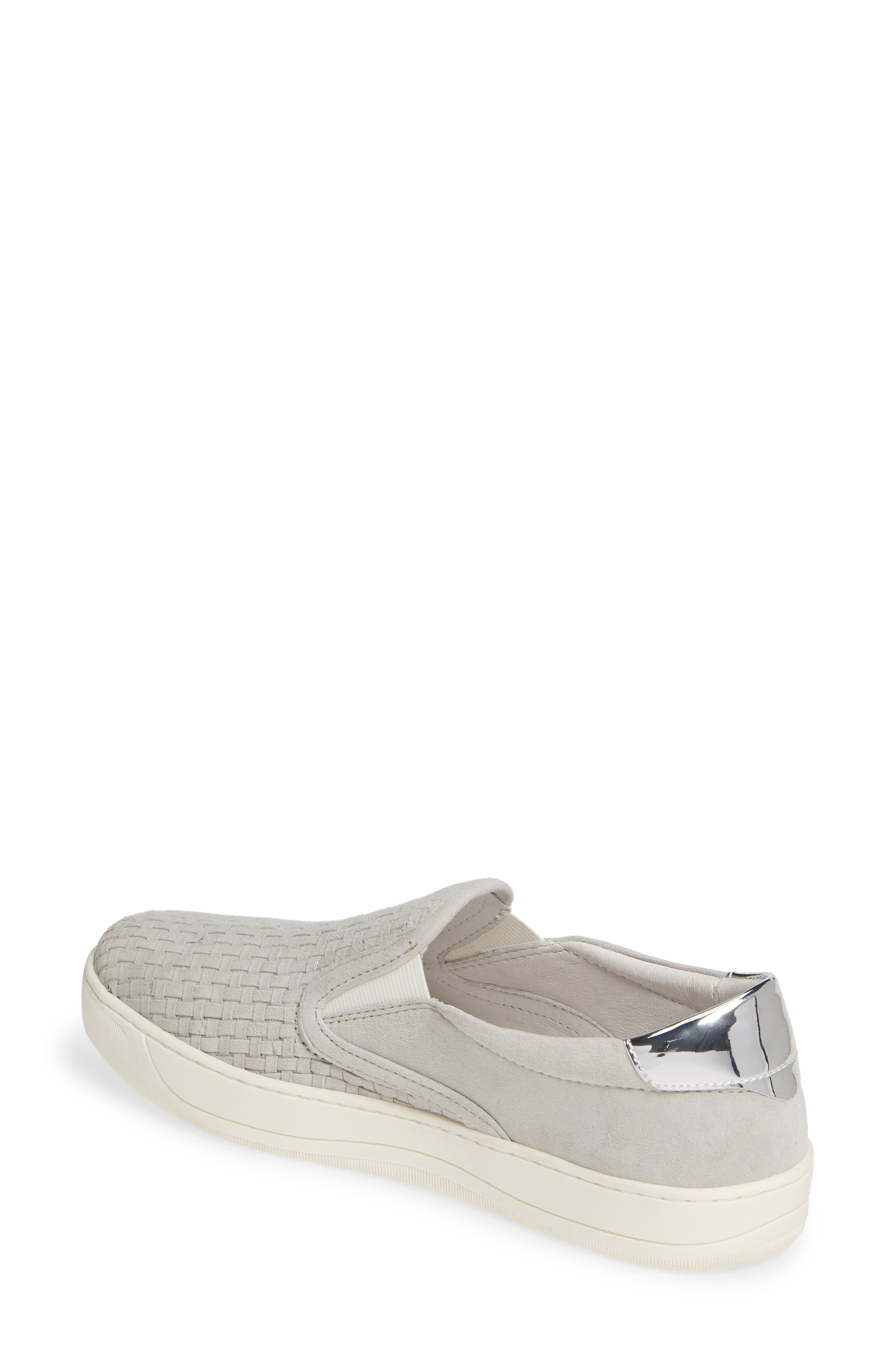 Elaine Woven Slip-On Sneaker,                             Alternate thumbnail 2, color,                             GREY SUEDE