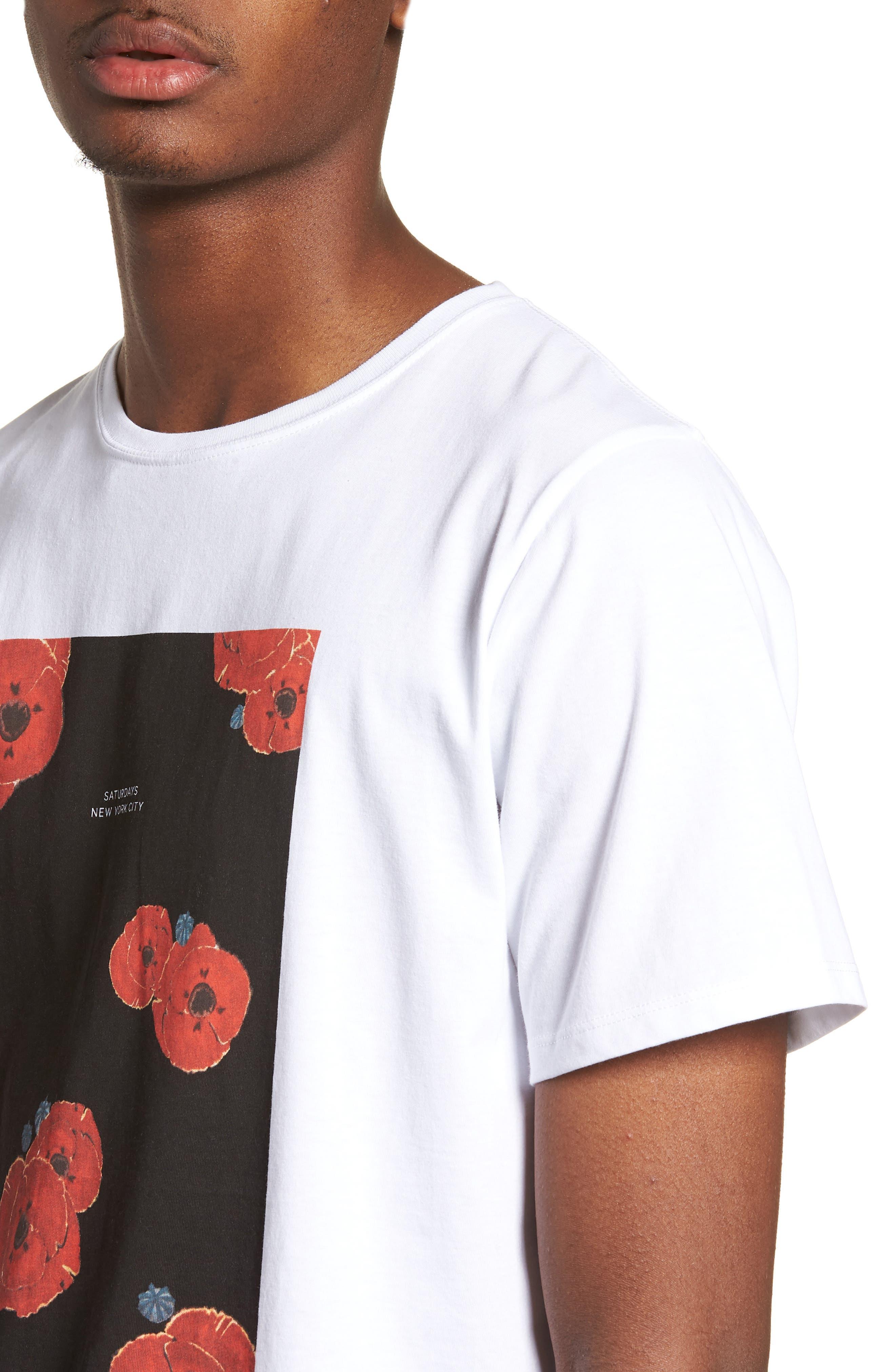 Floater Fill T-Shirt,                             Alternate thumbnail 4, color,                             WHITE