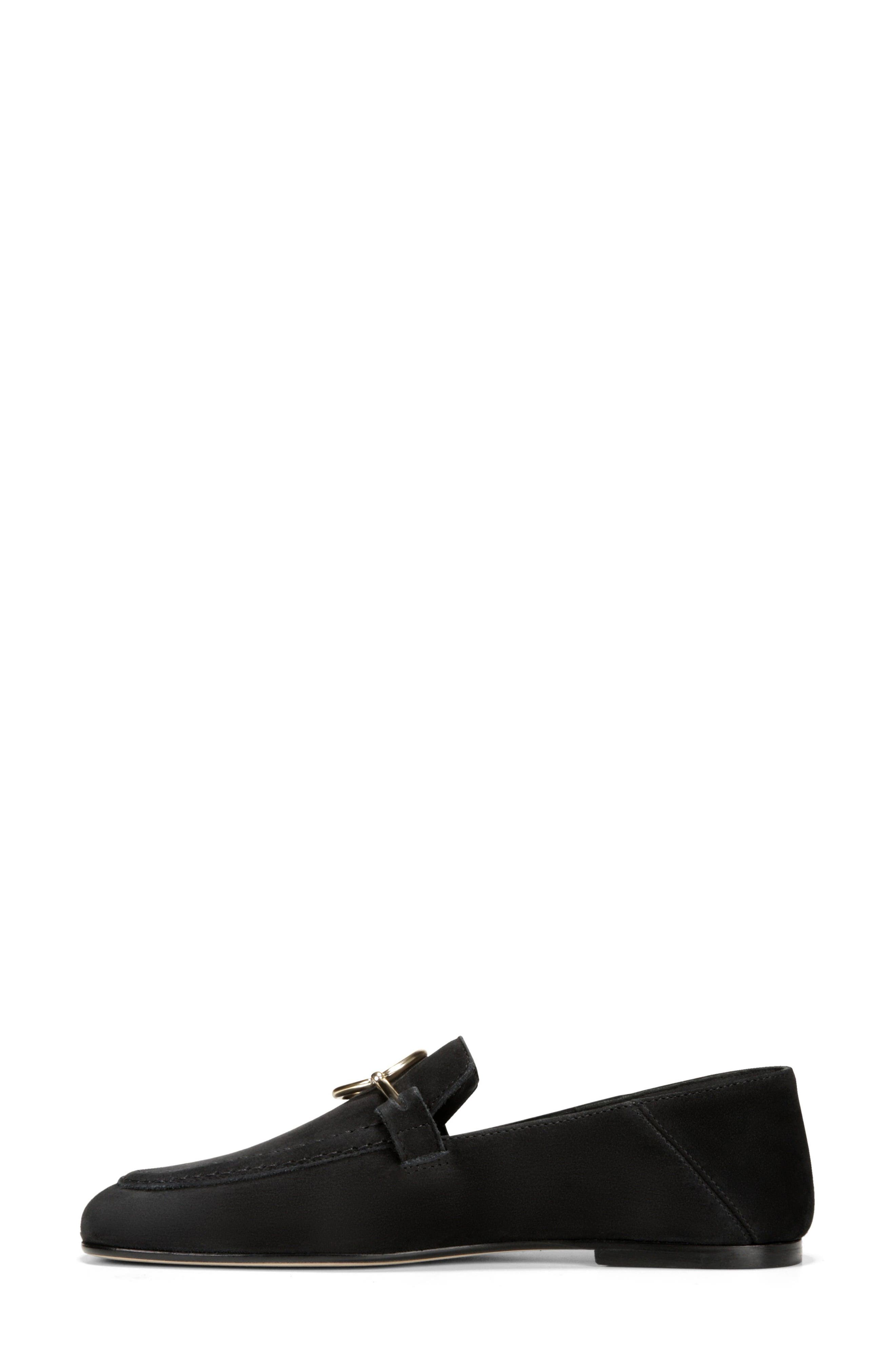 Abby Loafer,                             Alternate thumbnail 6, color,                             BLACK NUBUCK LEATHER