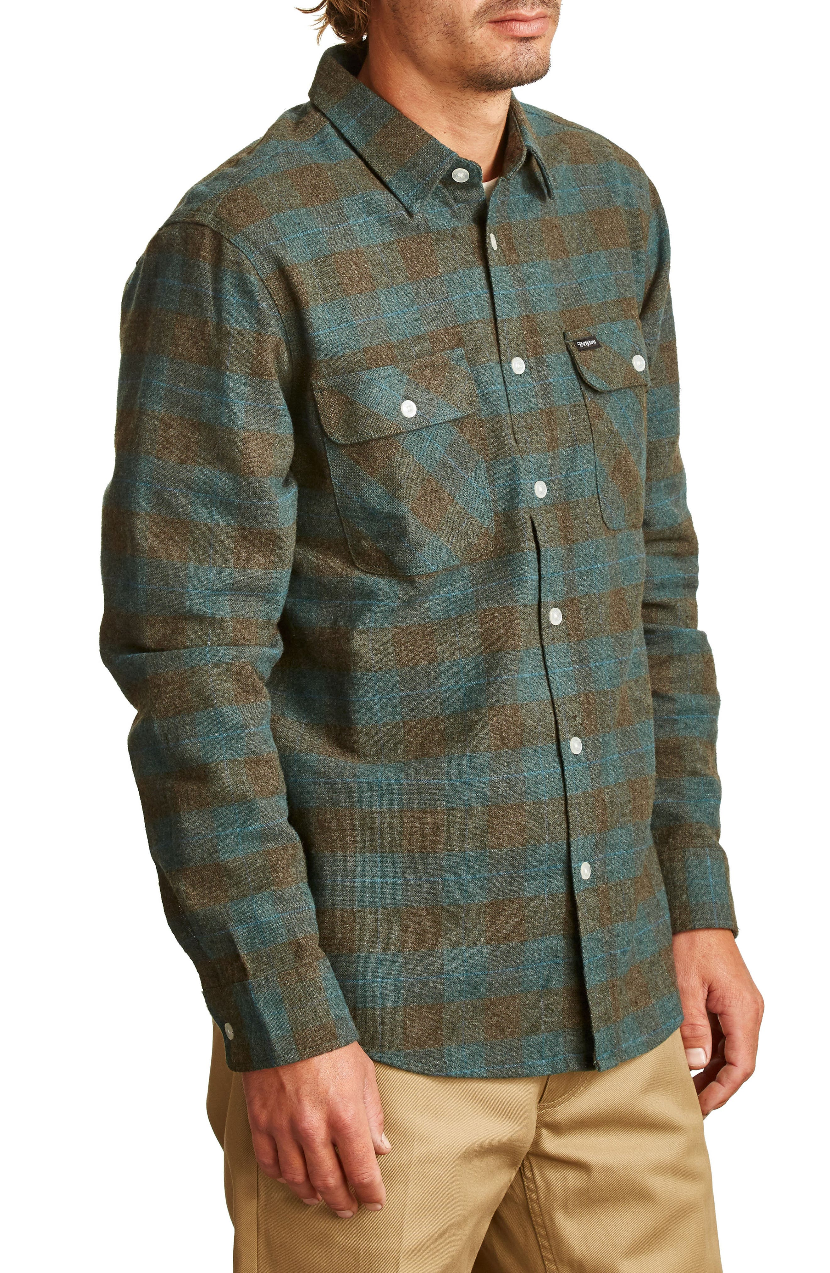 Bowery Flannel Shirt,                             Alternate thumbnail 31, color,