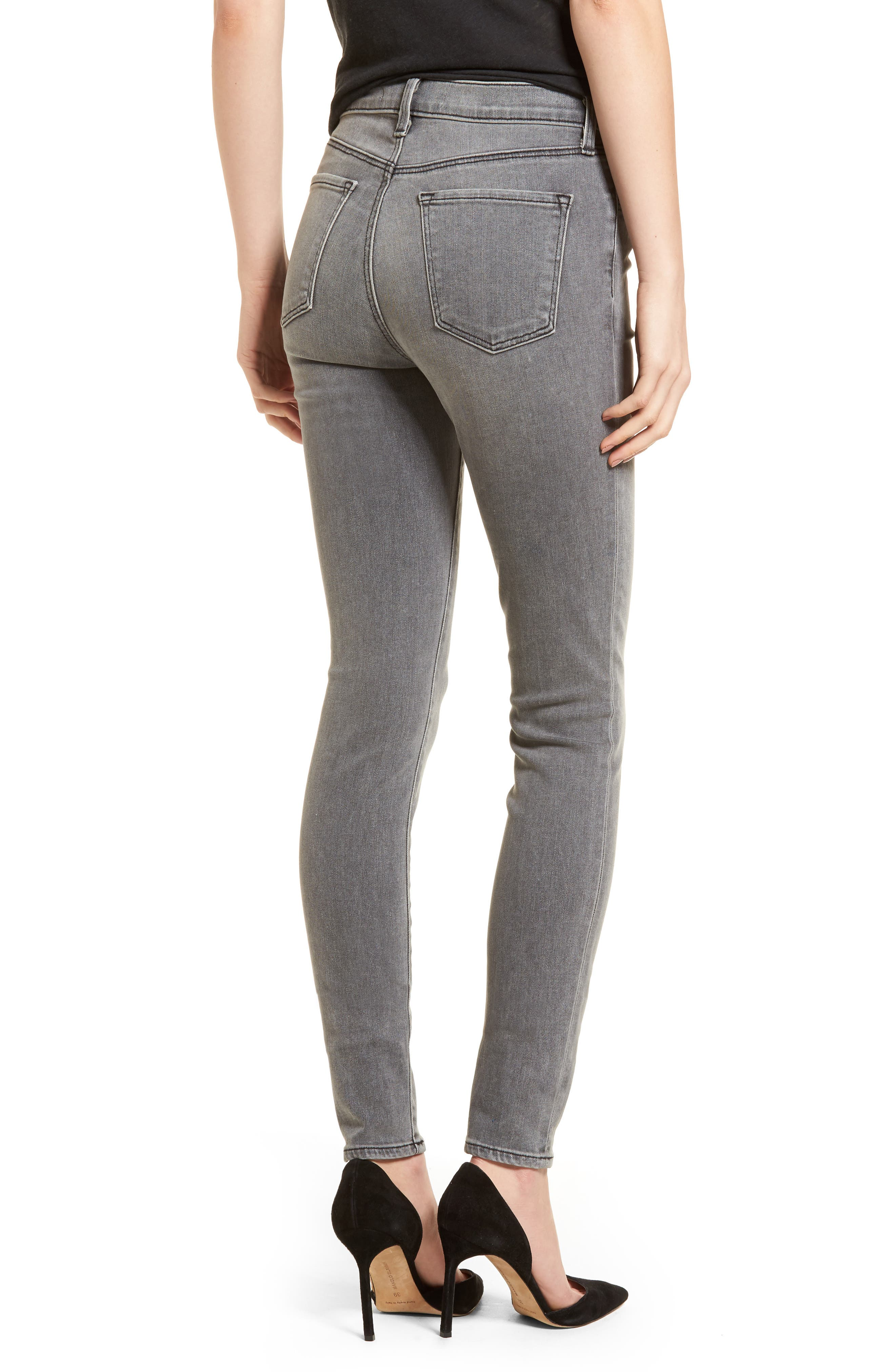 Maria High Waist Skinny Jeans,                             Alternate thumbnail 2, color,                             PEBBLE