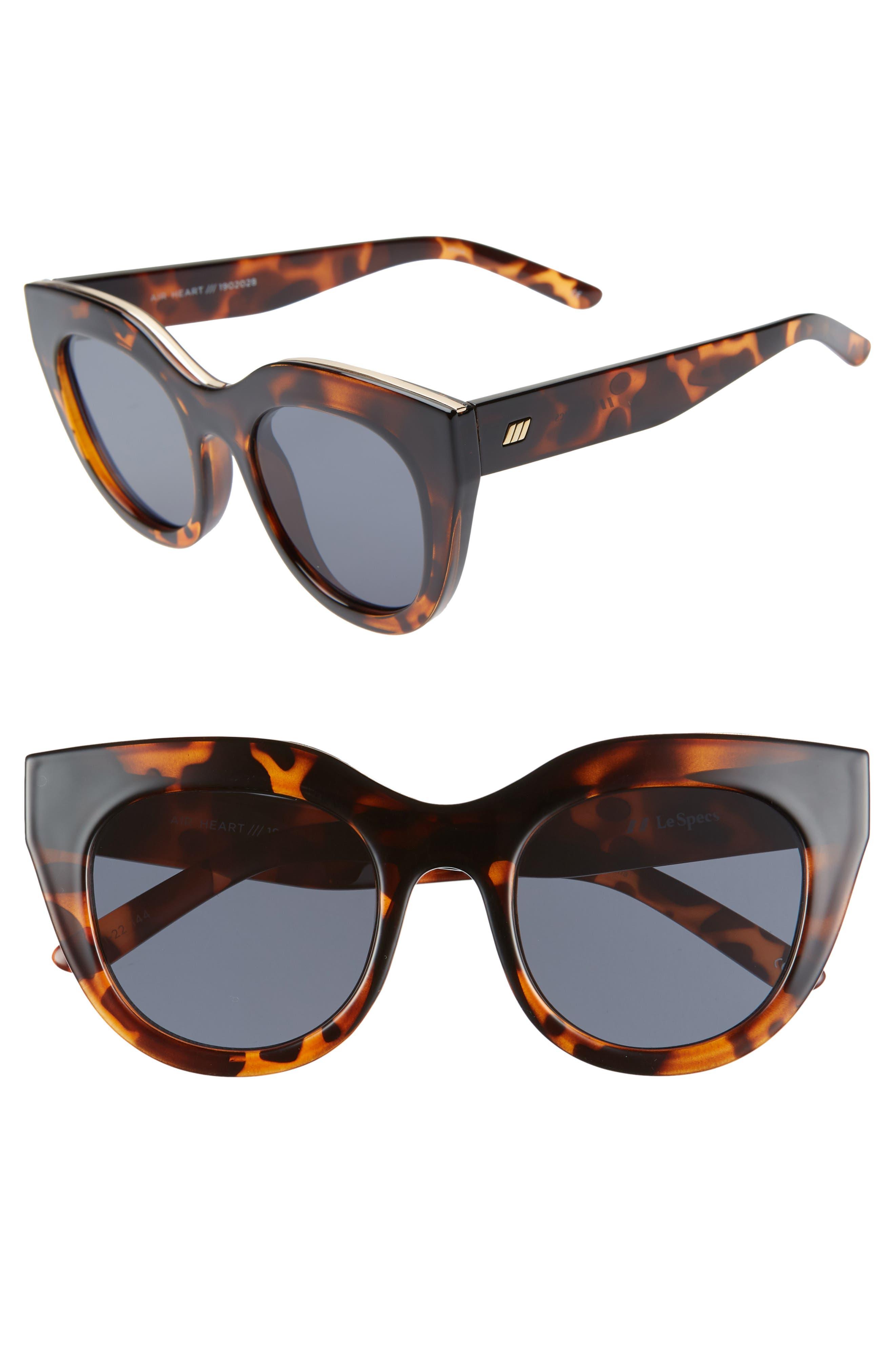 Le Specs Air Heart 51Mm Sunglasses - Tortoise/ Smoke