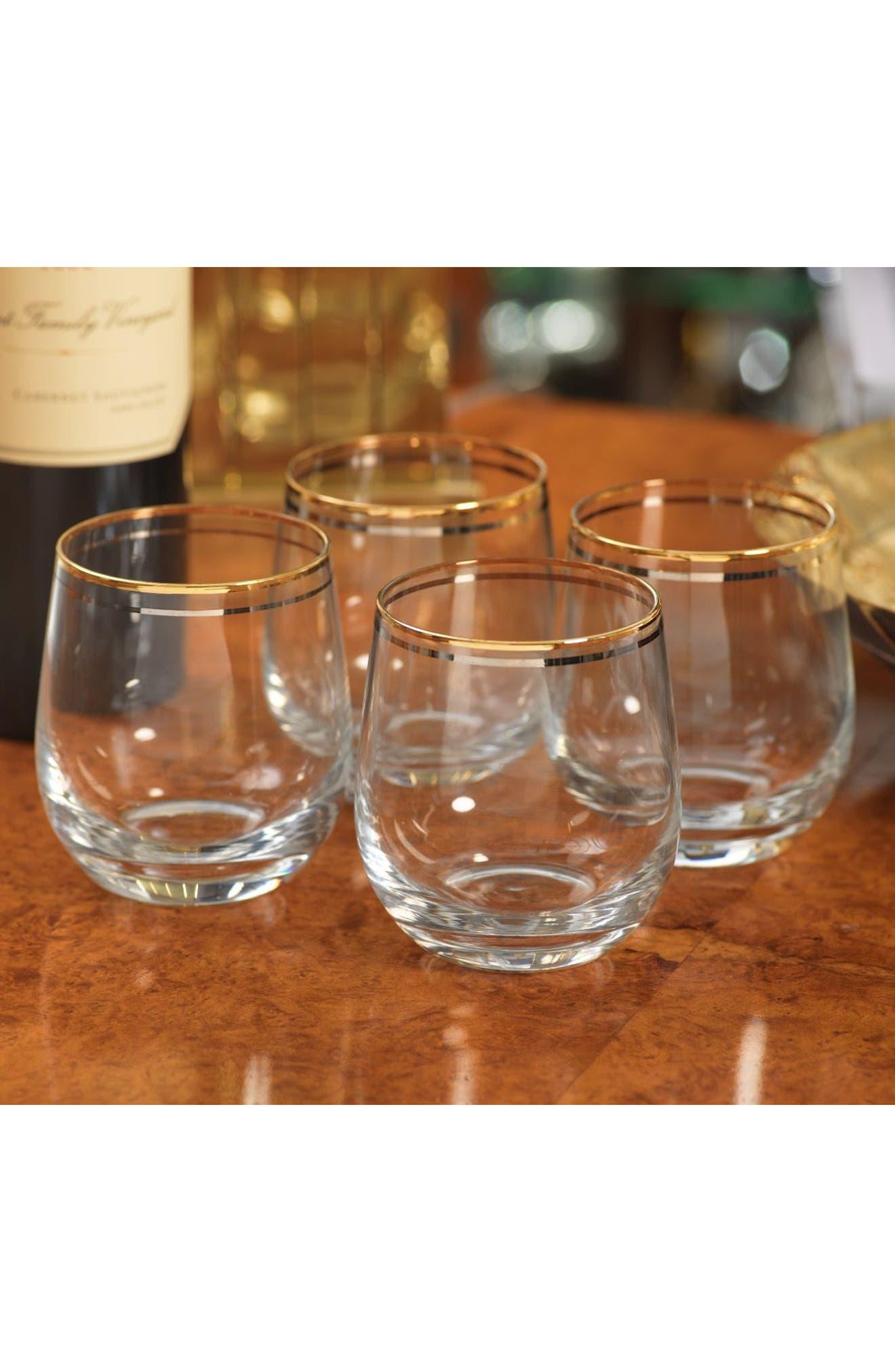 Raku Set of 4 Double Old Fashioned Glasses,                             Alternate thumbnail 2, color,                             100