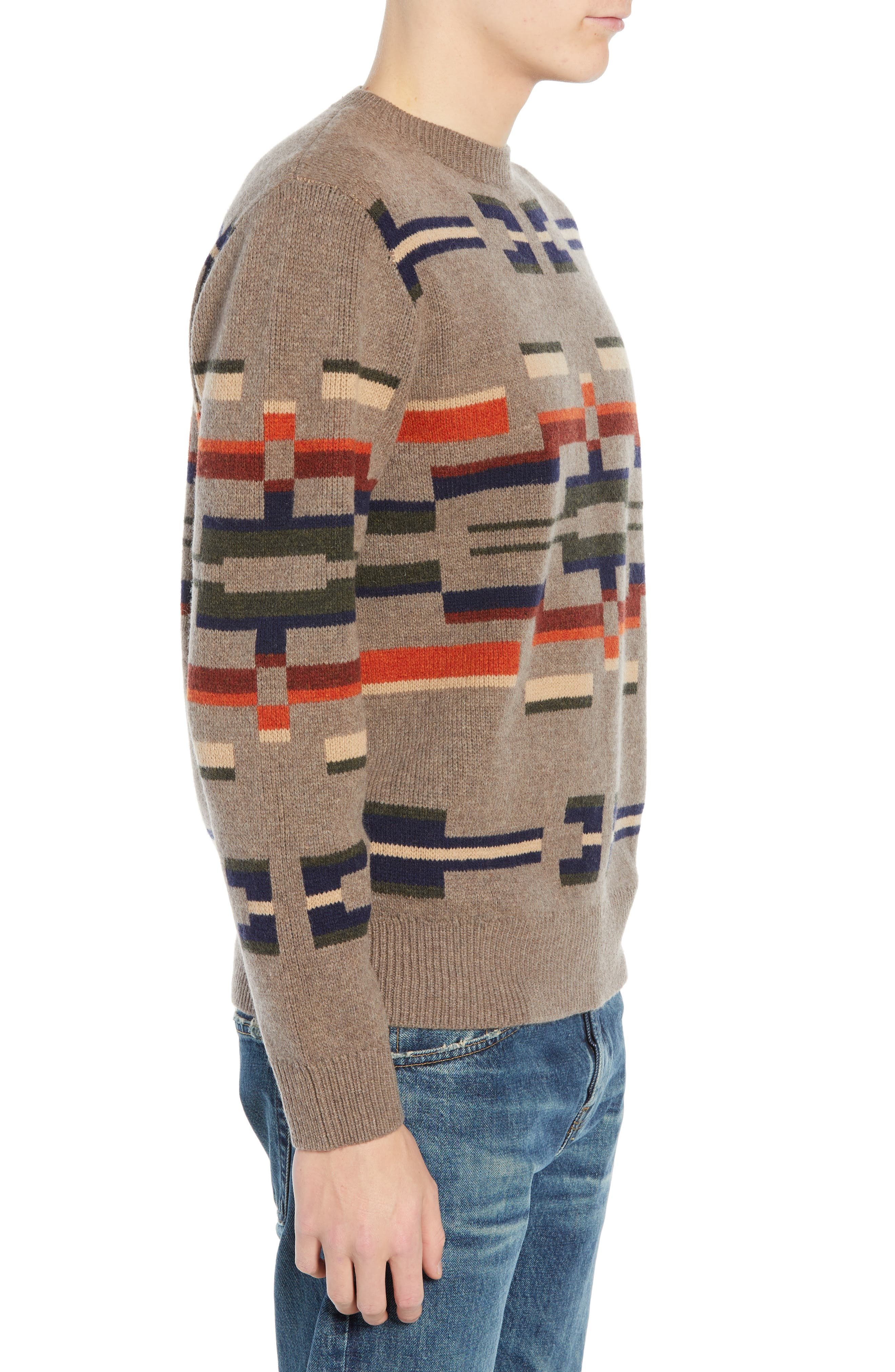 Outdoor Wool Sweater,                             Alternate thumbnail 3, color,                             MULTI NOVELTY MOTIF