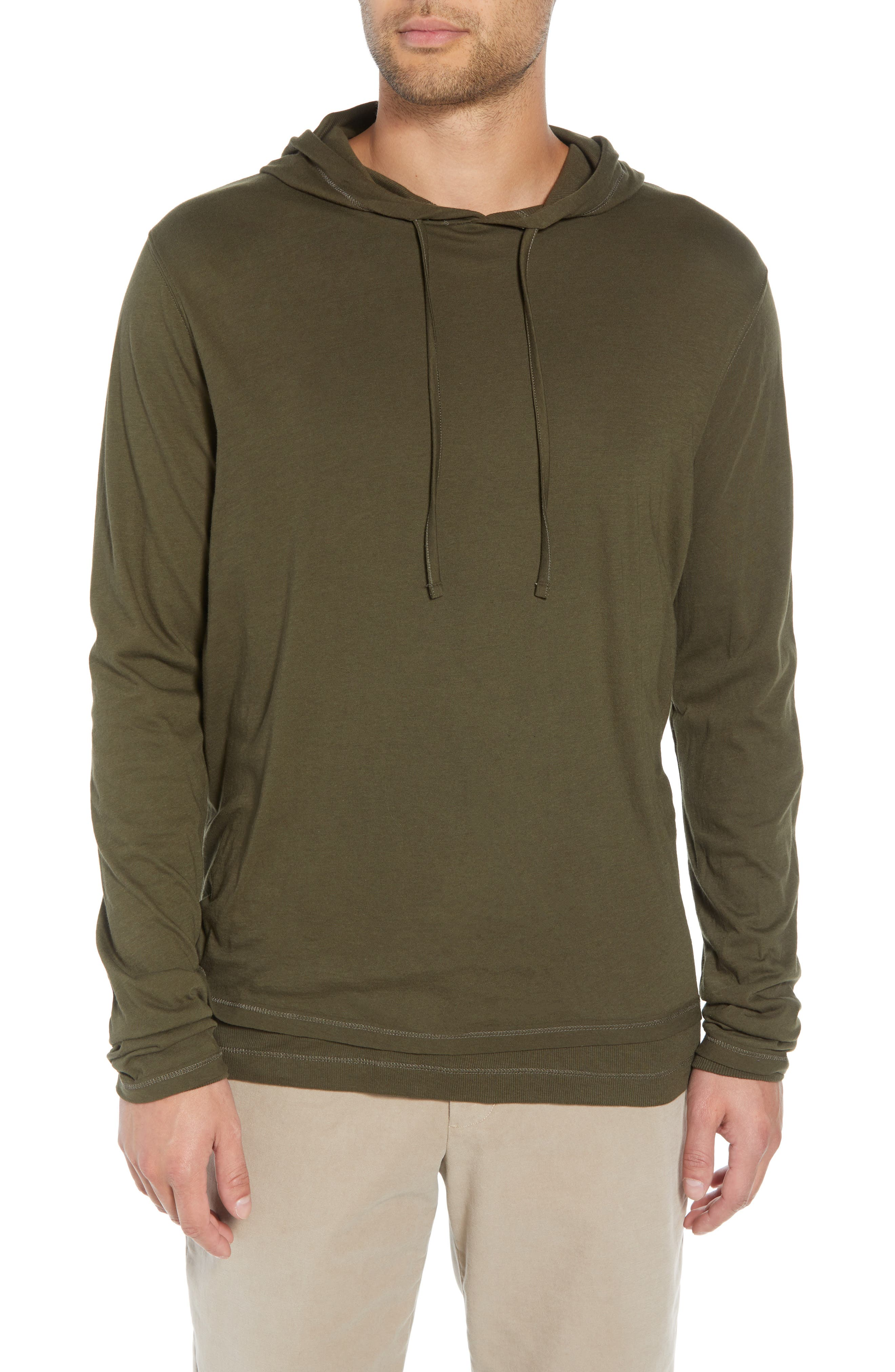 VINCE Regular Fit Double Layer Hoodie, Main, color, 374