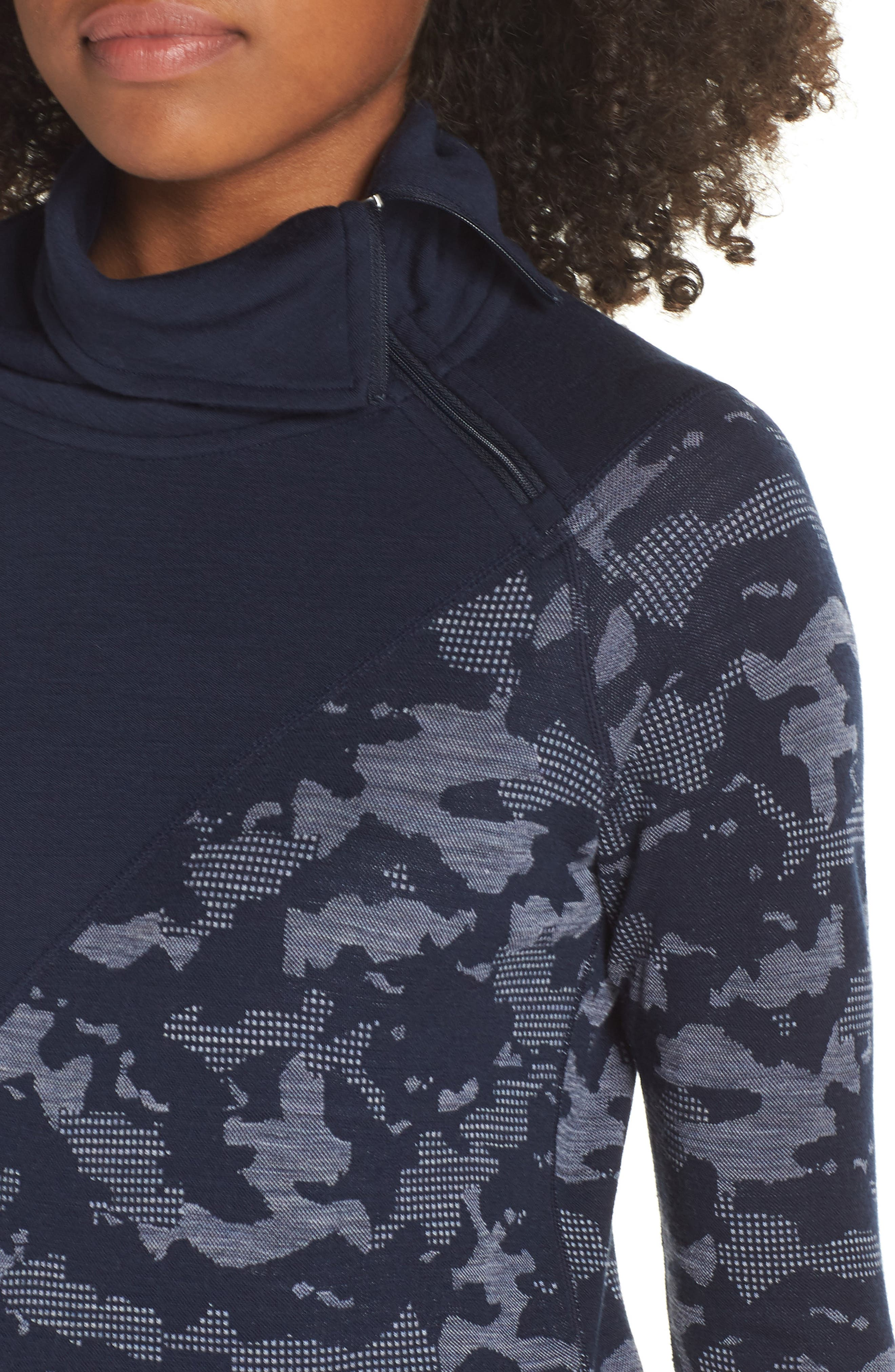 Merino 250 Asymmetrical Zip Top,                             Alternate thumbnail 4, color,                             410