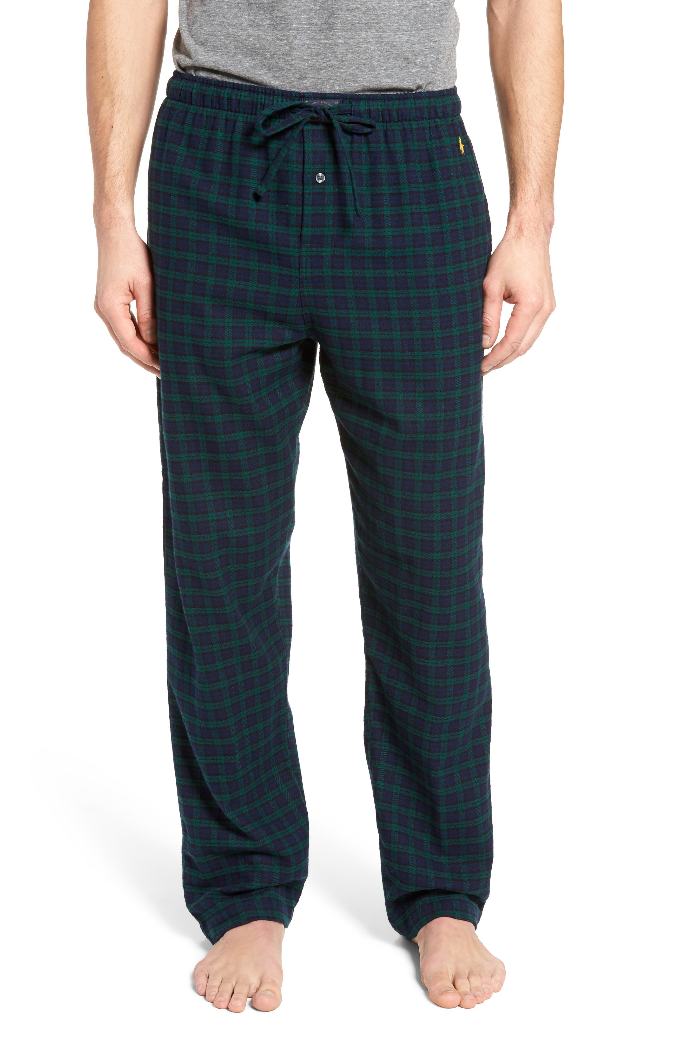 Flannel Pajama Pants,                             Main thumbnail 7, color,