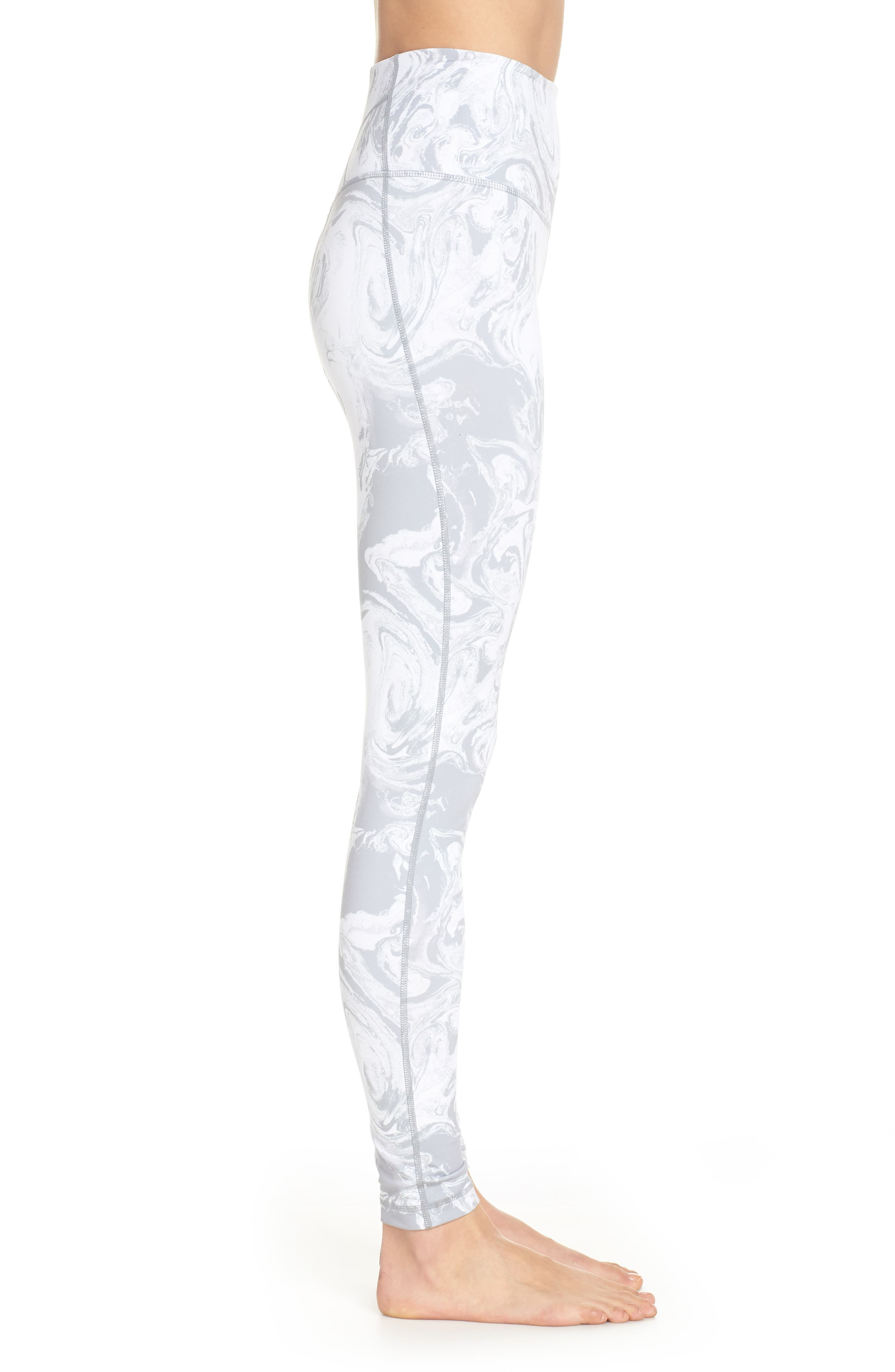 Live In High Waist Leggings,                             Alternate thumbnail 3, color,                             GREY SCONCE PRETTY MARBLE