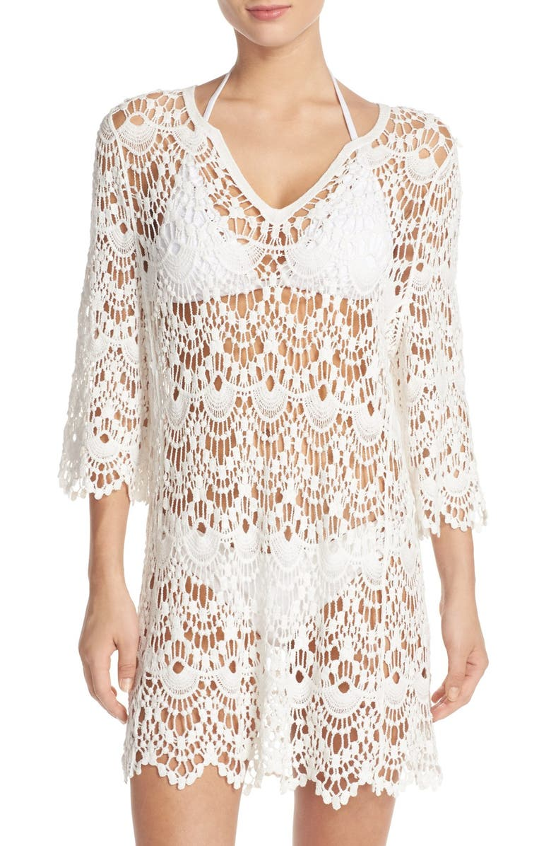 217415106927d Surf Gypsy Crochet Cover-Up Tunic
