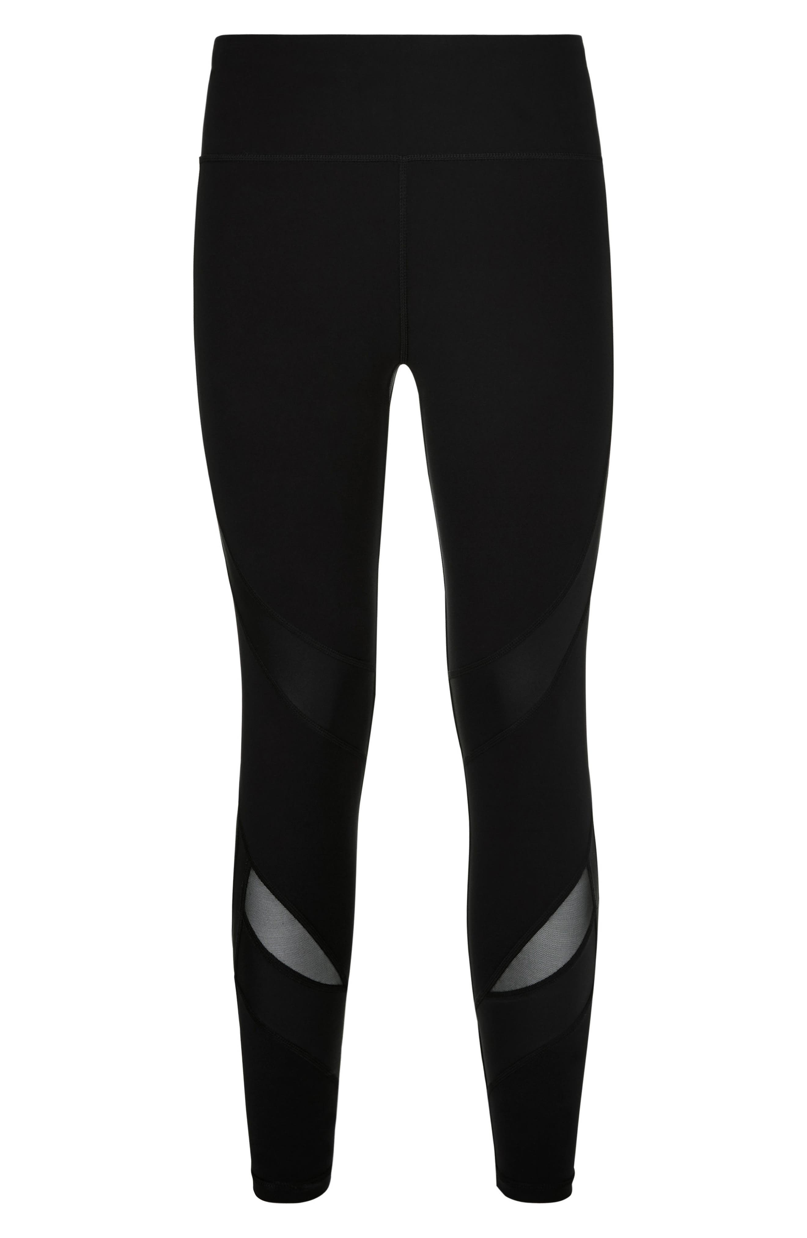 Wetlook Run Leggings,                             Alternate thumbnail 6, color,                             BLACK