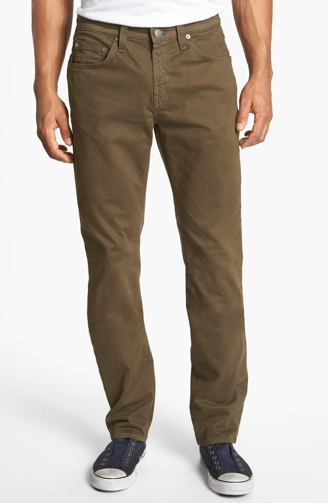 'Kane' Slim Fit Cotton Twill Pants,                             Main thumbnail 8, color,
