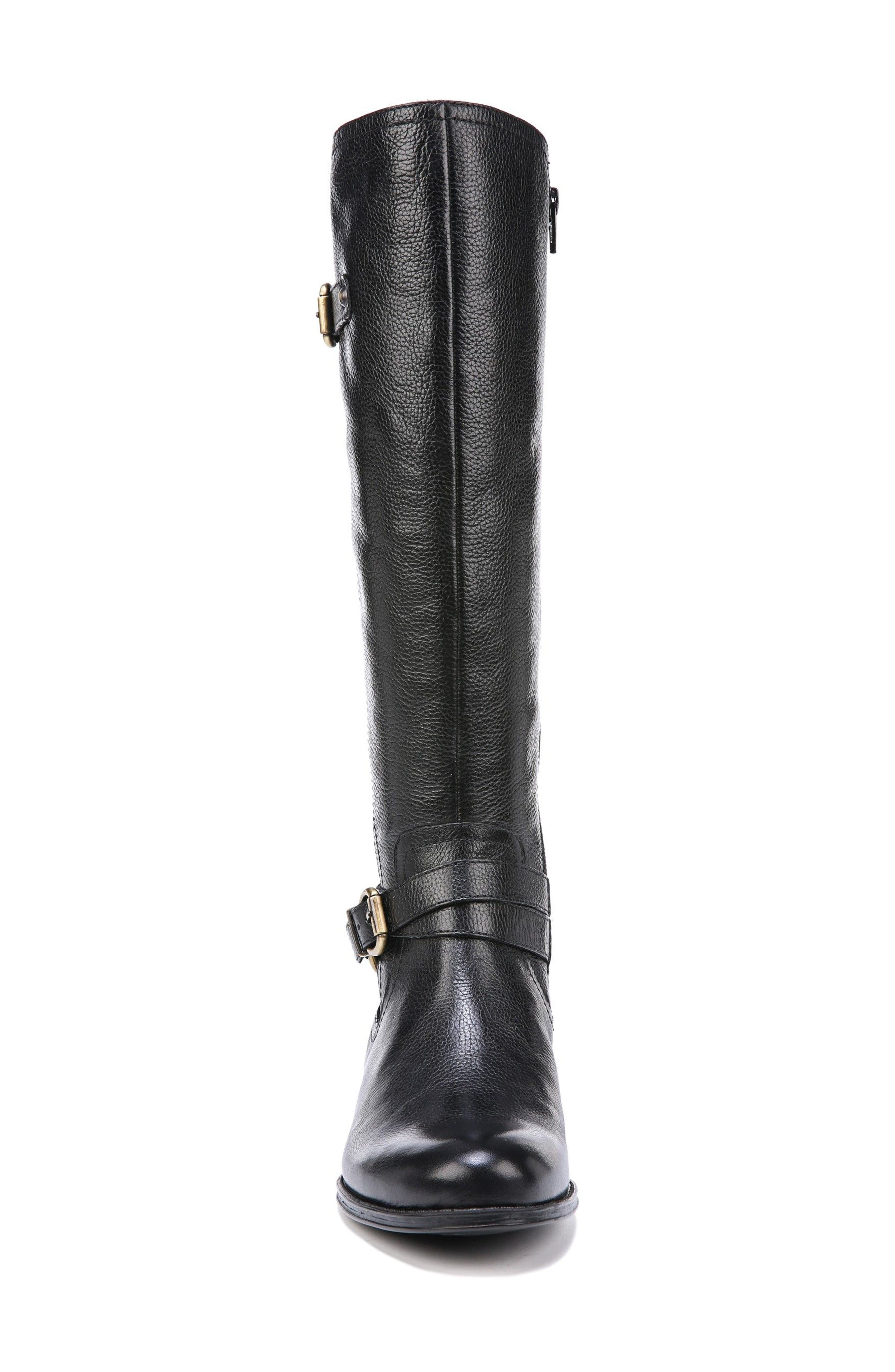 Jodee Knee High Boot,                             Alternate thumbnail 4, color,                             BLACK LEATHER