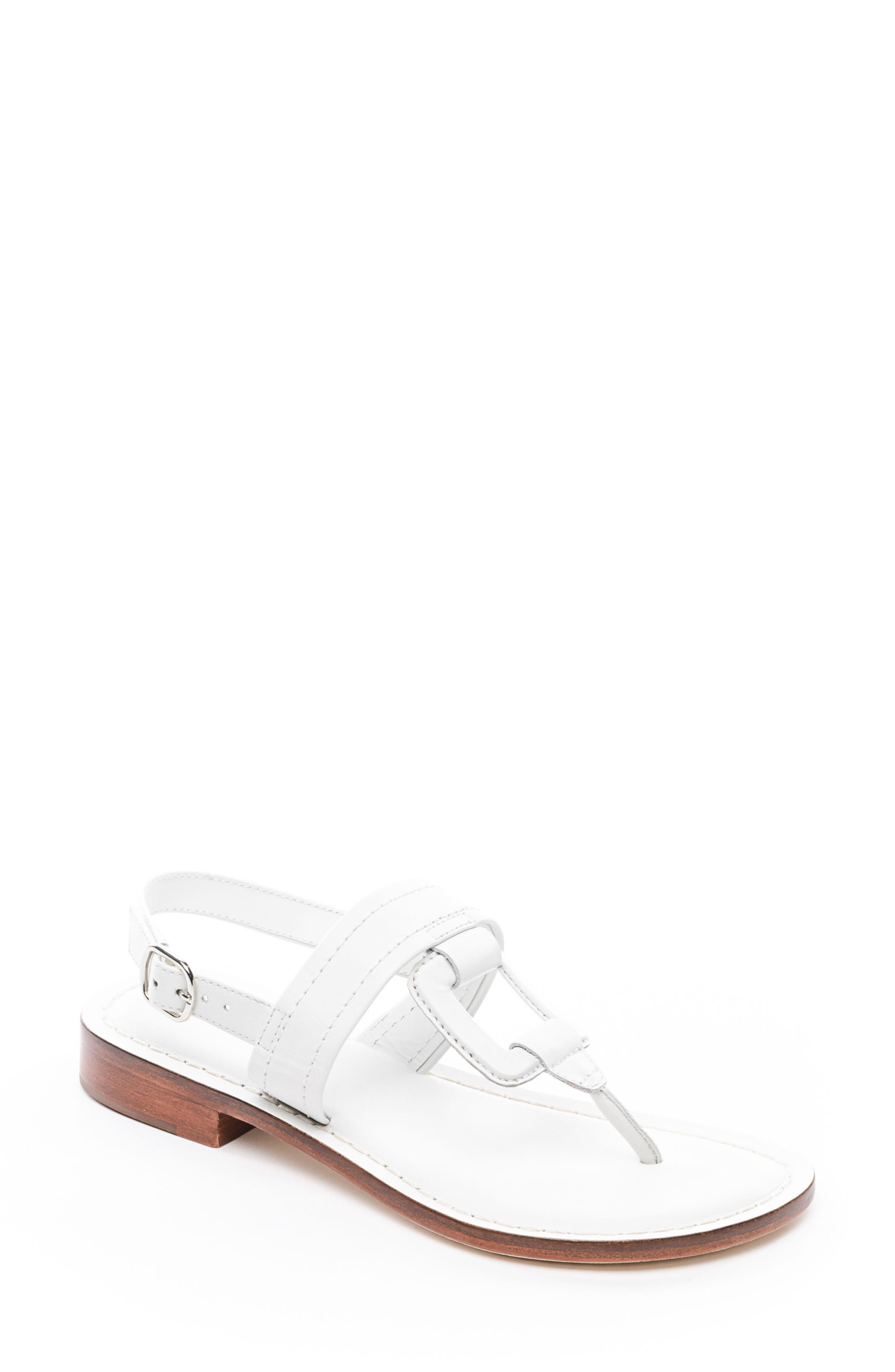 Bernardo Tegan Sandal,                         Main,                         color, WHITE LEATHER