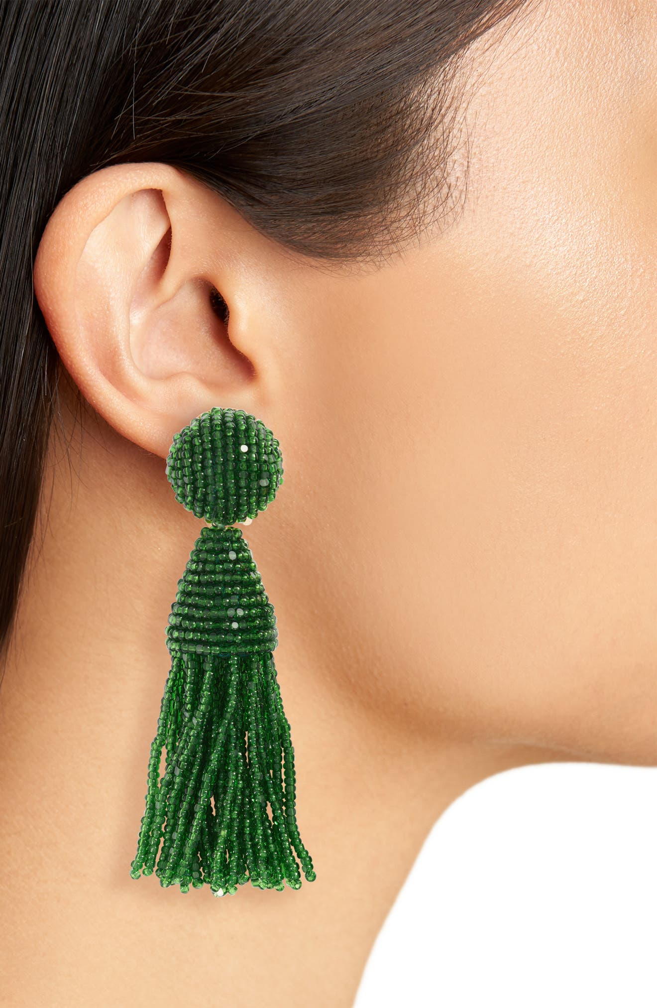 'Classic Short' Tassel Drop Clip Earrings,                             Alternate thumbnail 36, color,