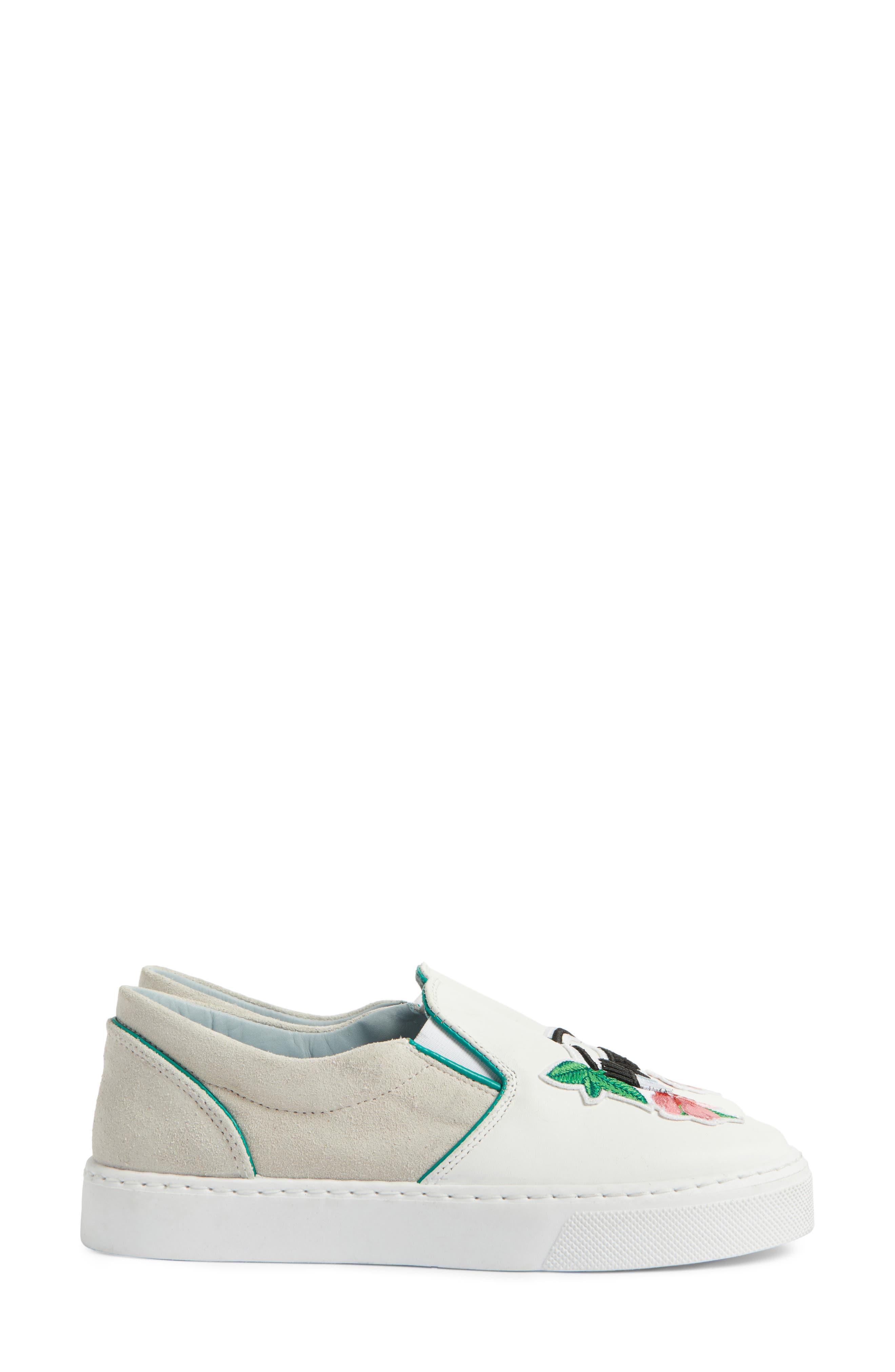 Flower Power Slip-On Sneaker,                             Alternate thumbnail 4, color,                             168