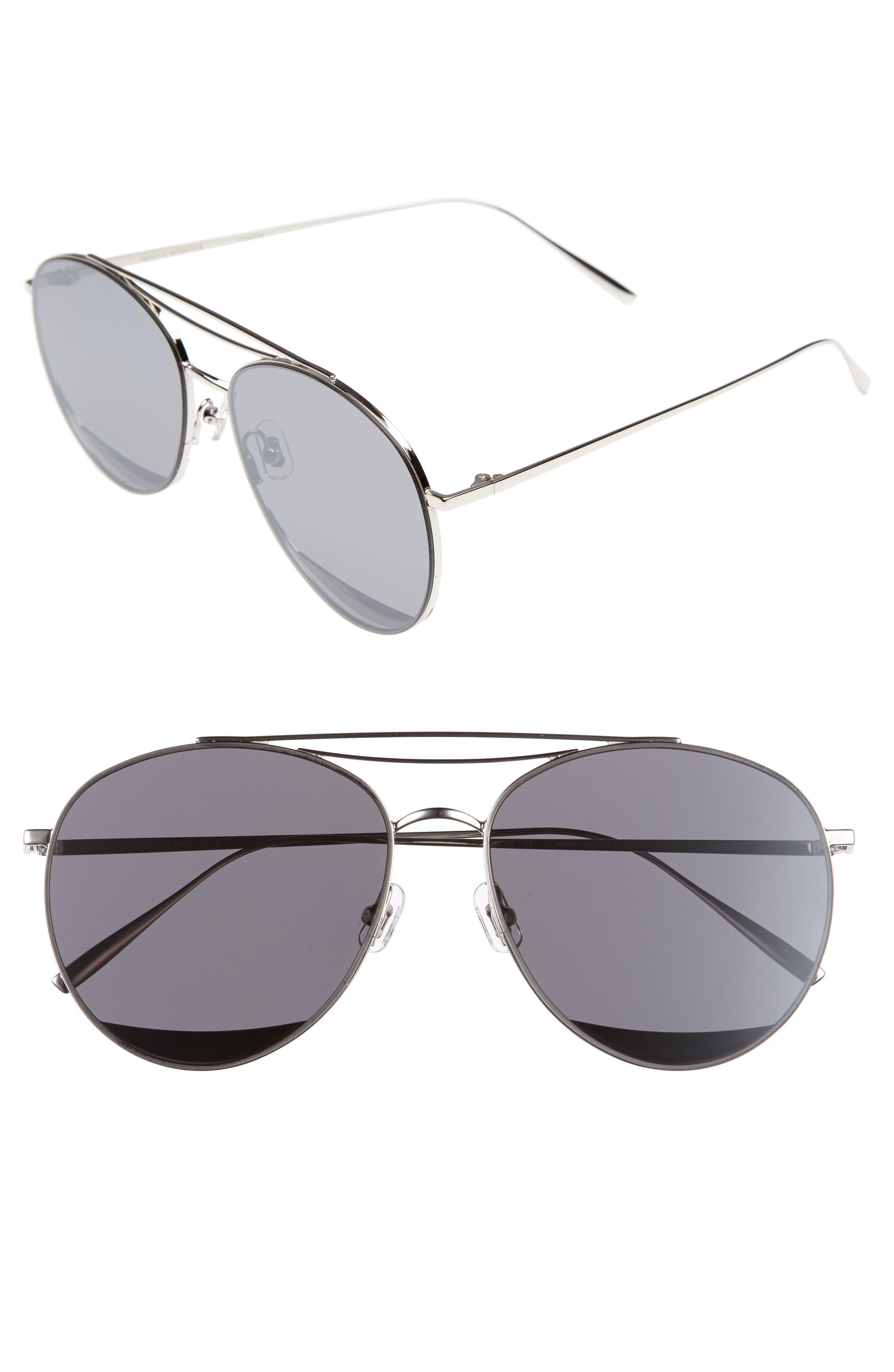Odd Odd 61mm Aviator Sunglasses,                         Main,                         color, 040