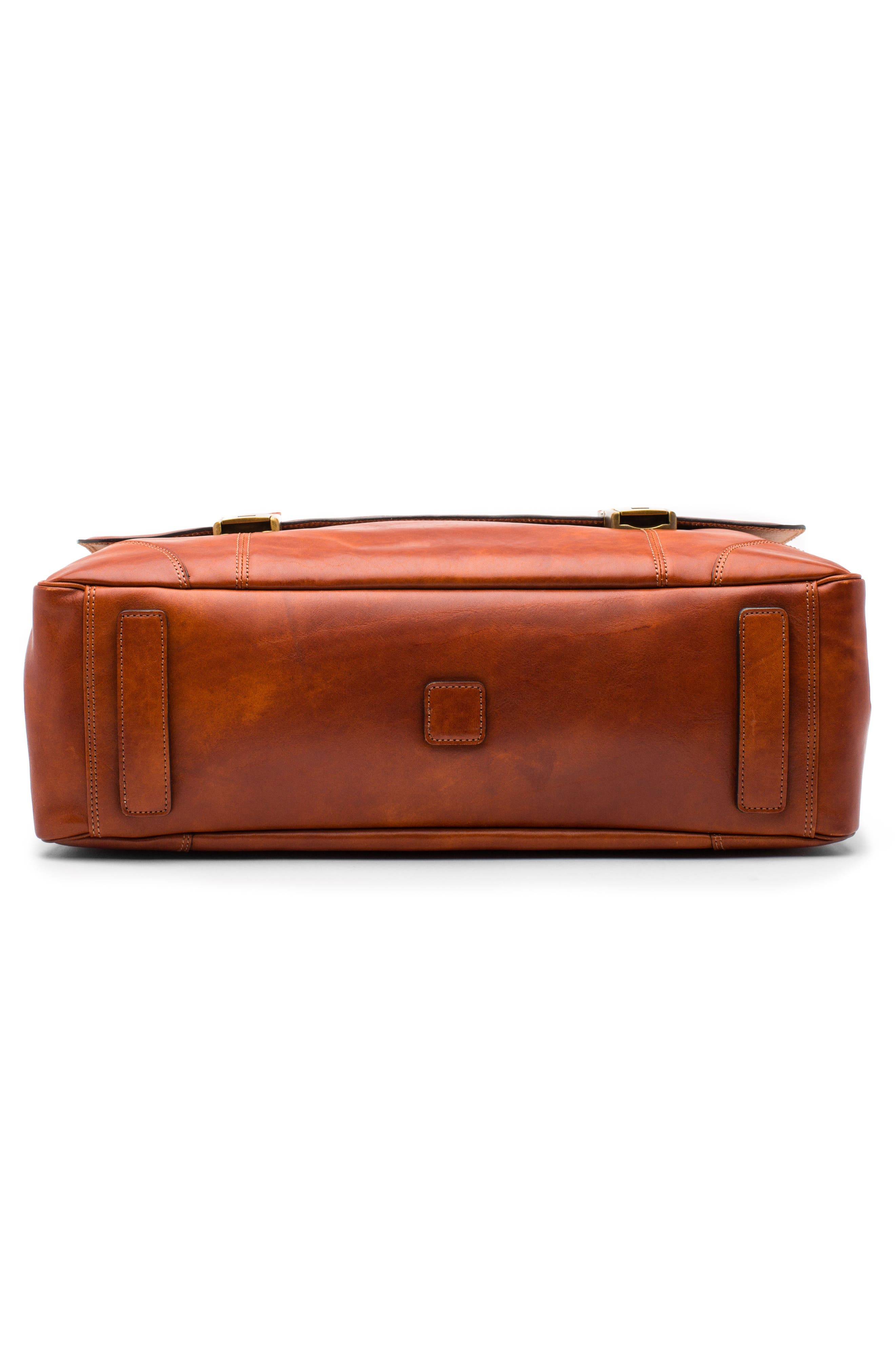 Dolce Leather Briefcase,                             Alternate thumbnail 5, color,                             AMBER