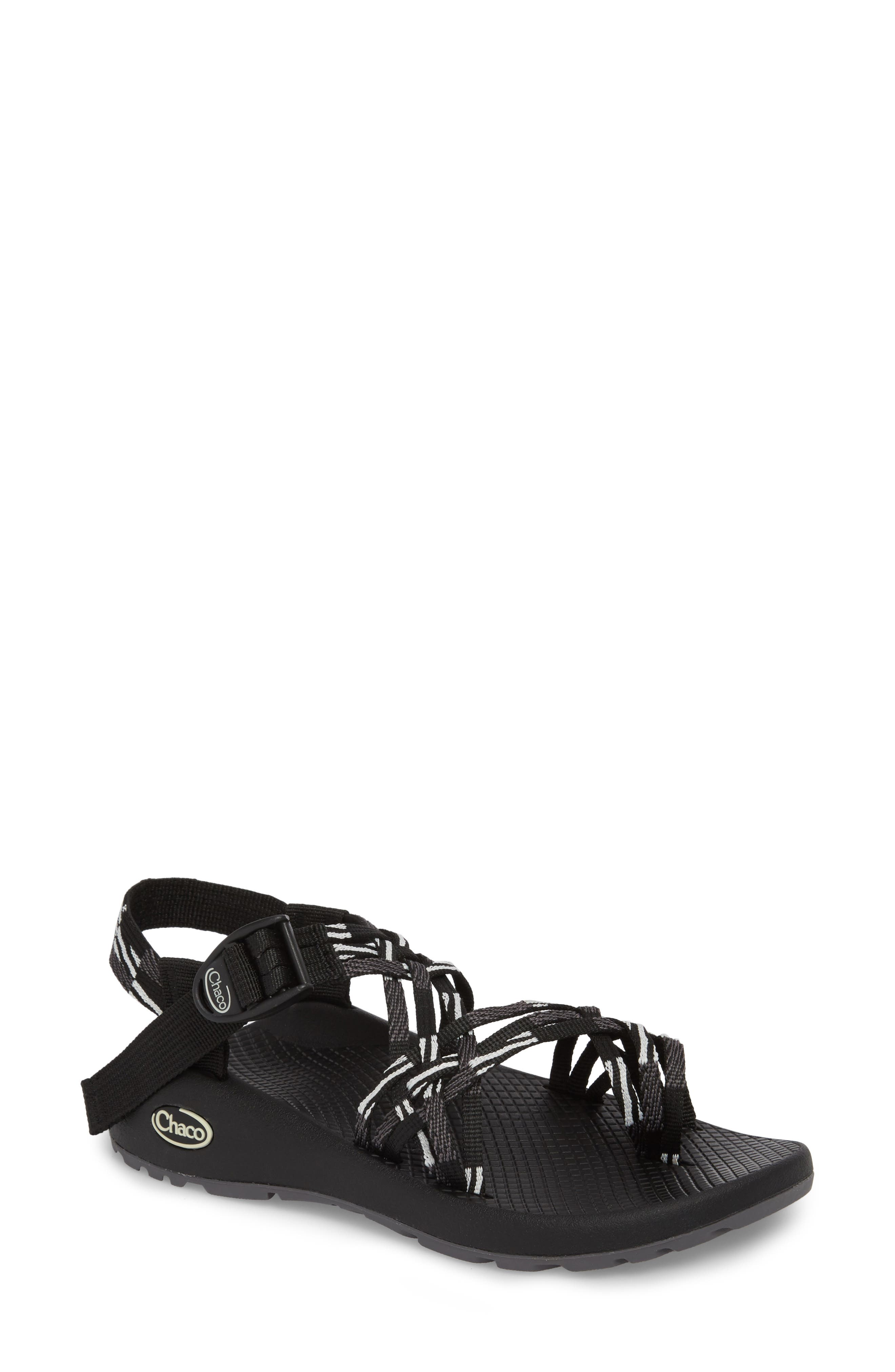ZX/3<sup>®</sup> Classic Sandal,                             Main thumbnail 1, color,                             SCATTER BLACK / WHITE