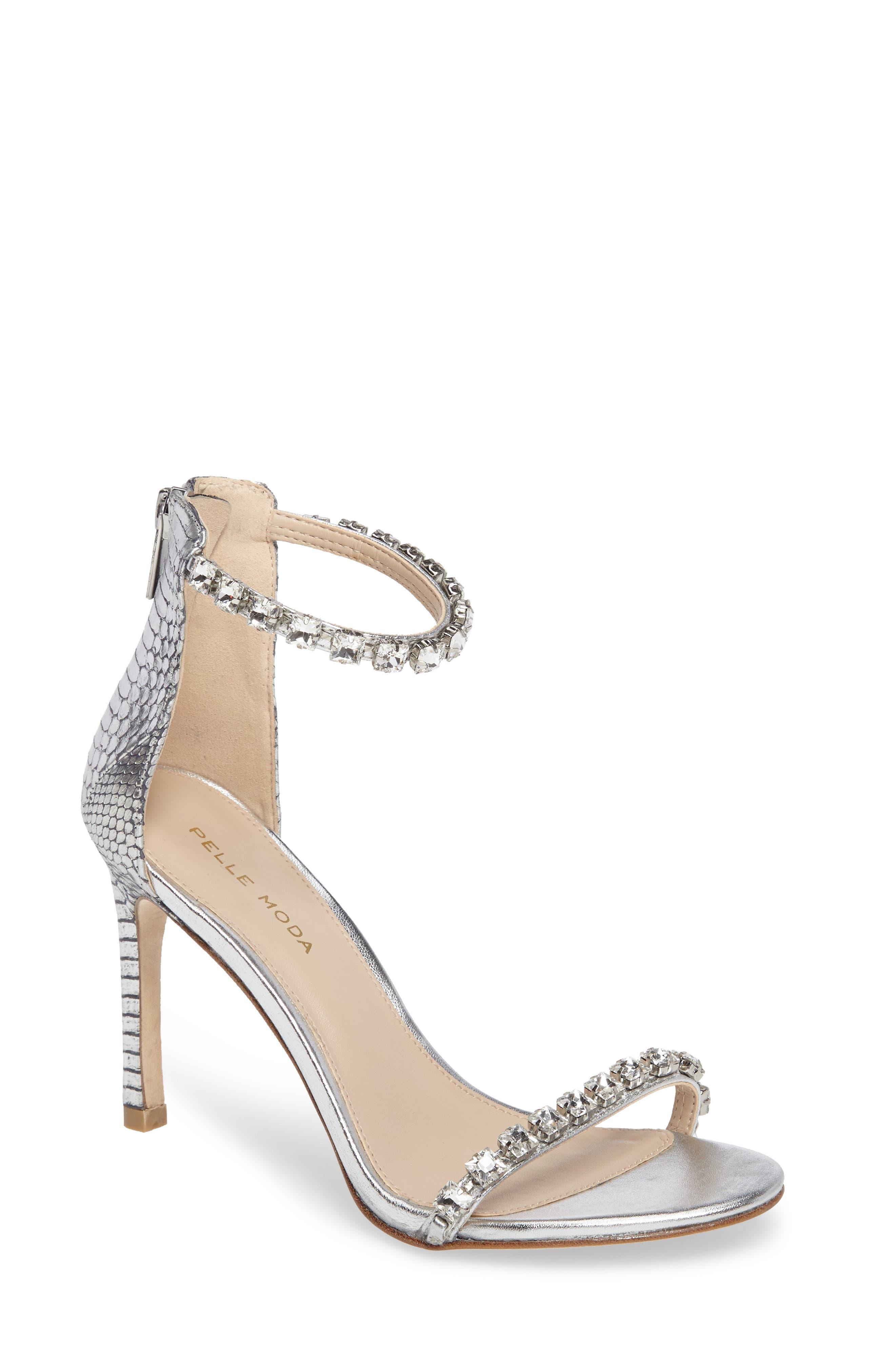 Frisk Embellished Sandal,                         Main,                         color, SILVER