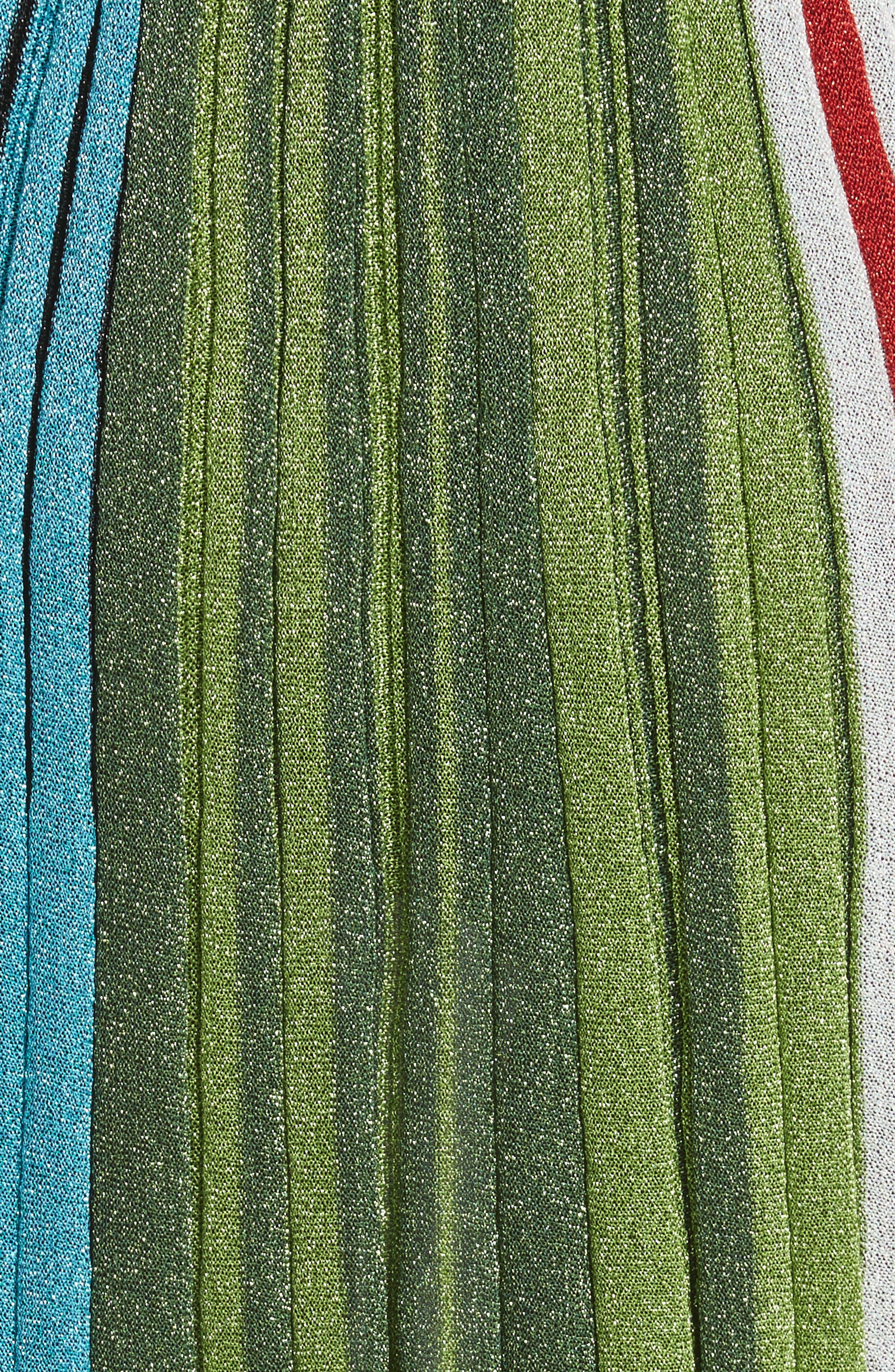 Metallic Stripe Skirt,                             Alternate thumbnail 5, color,                             640