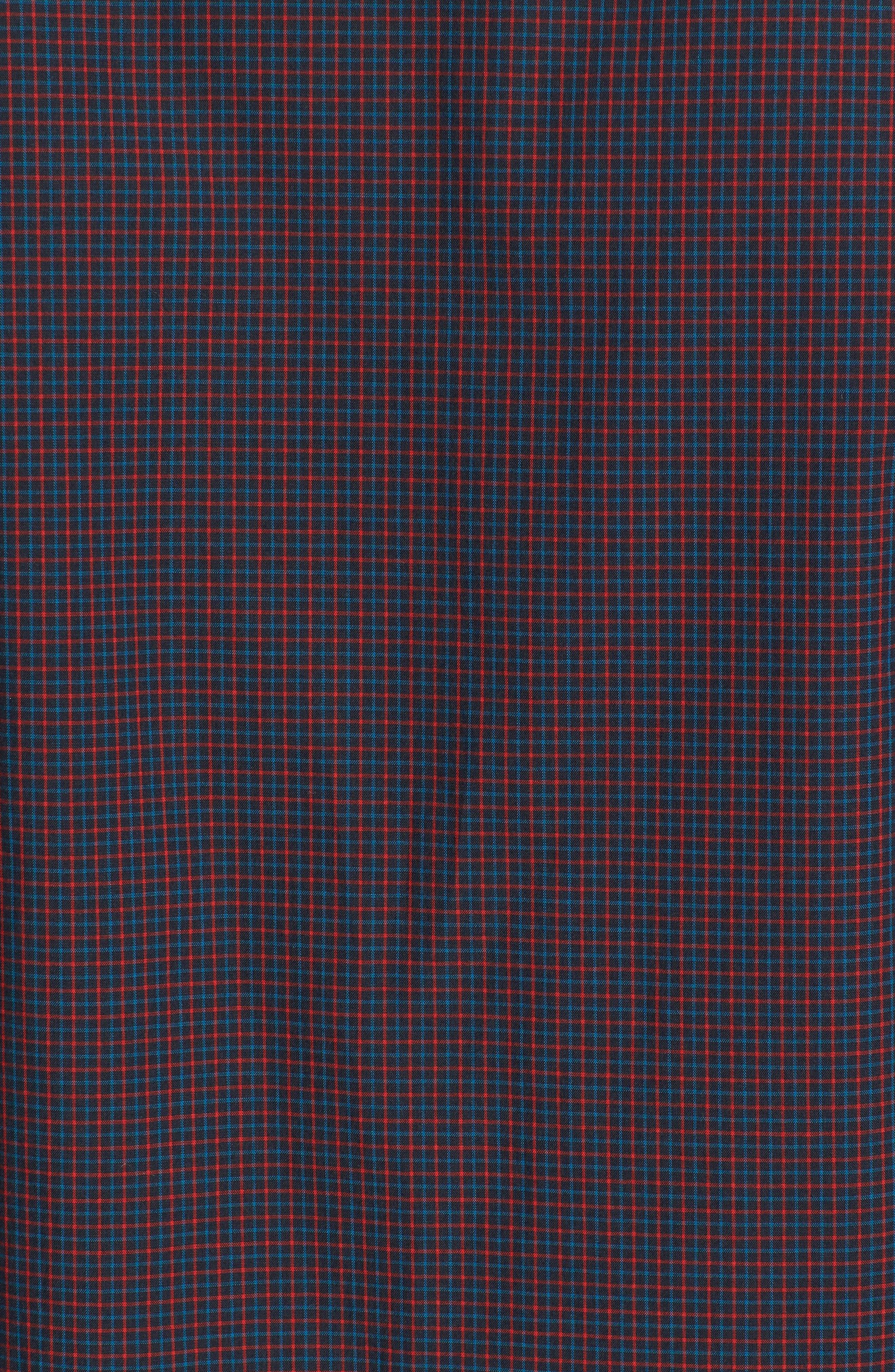 Staple Woven Shirt,                             Alternate thumbnail 5, color,                             NEW NAVY