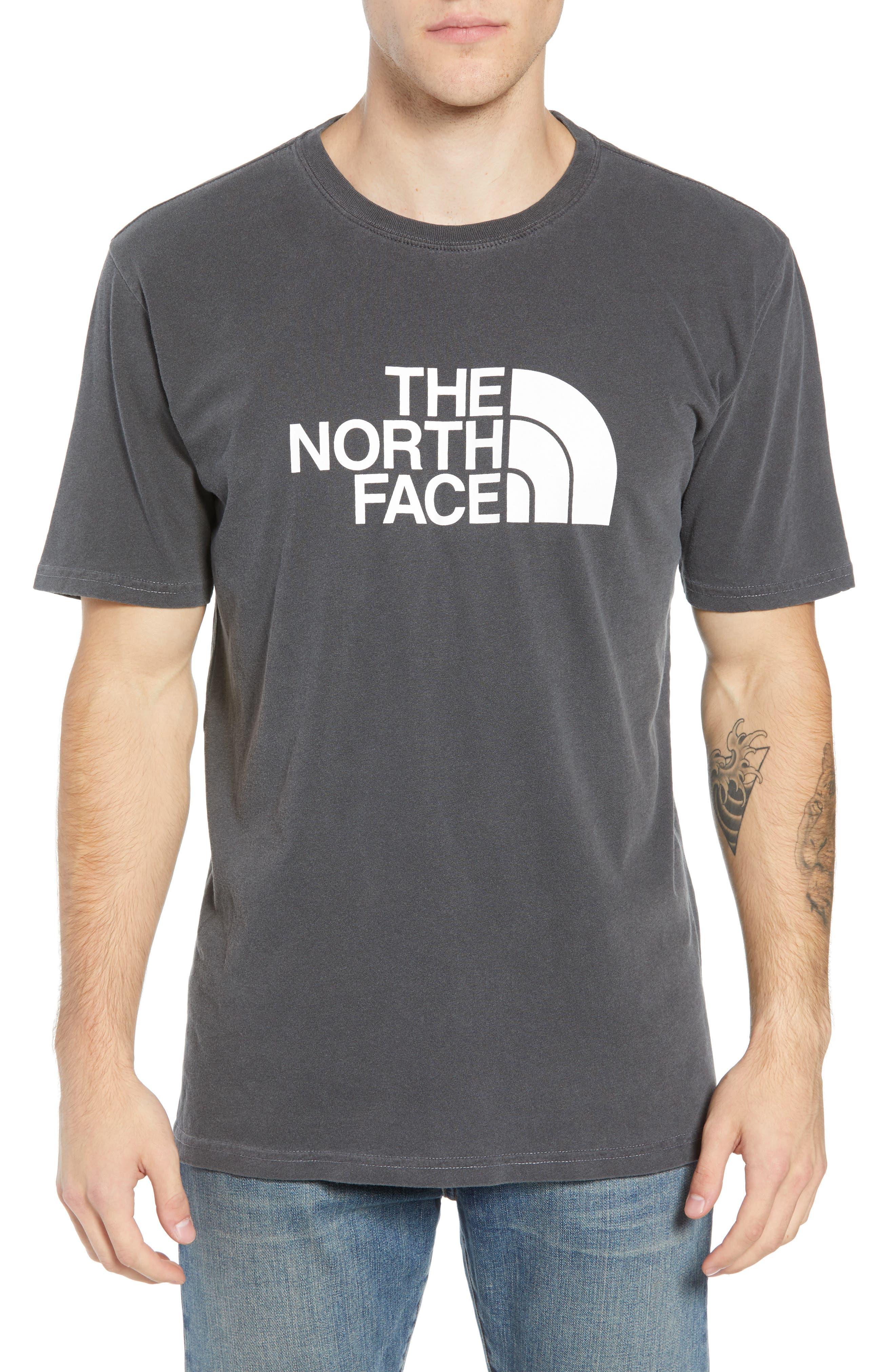 Half Dome Logo T-Shirt,                         Main,                         color, WEATHERED BLACK